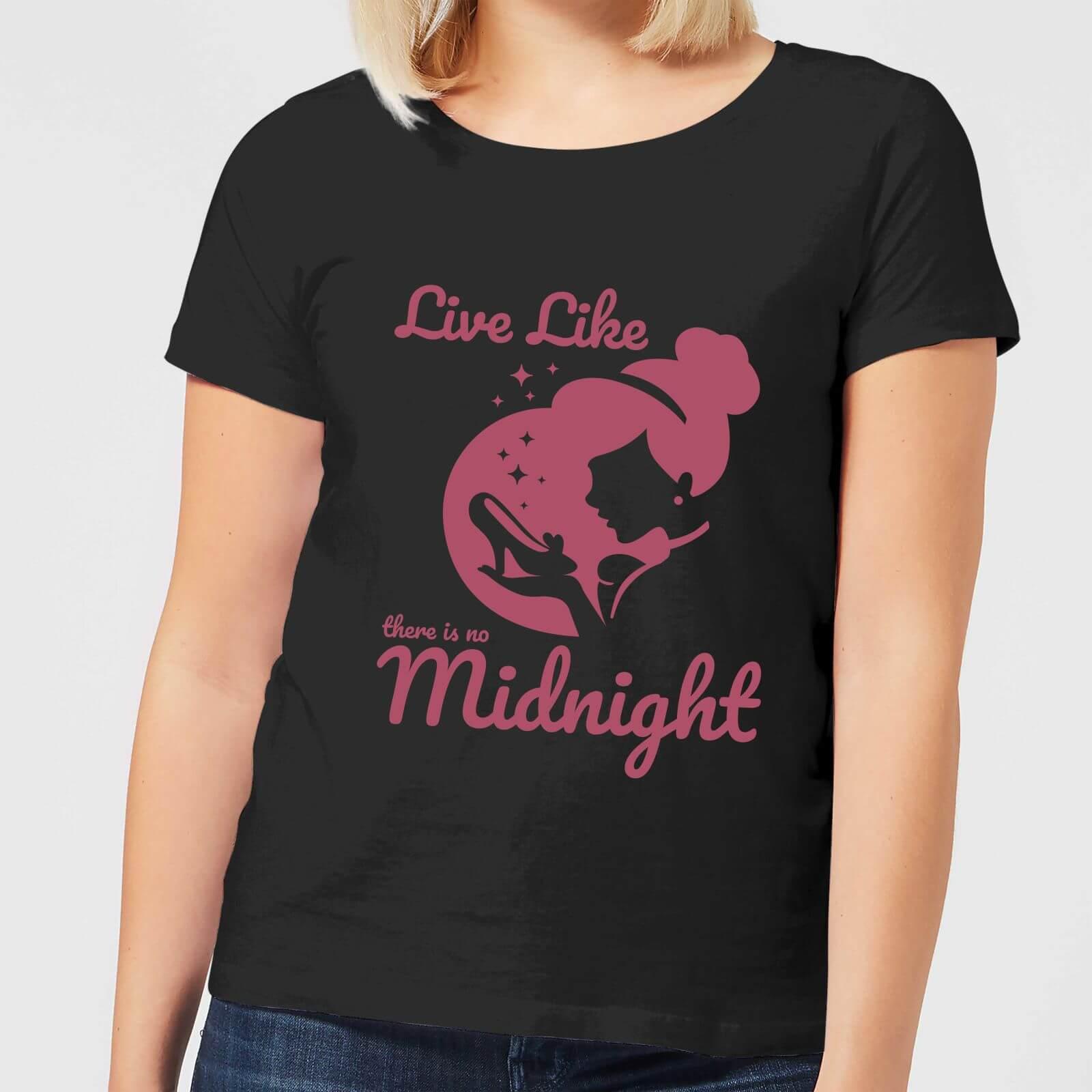 disney princess midnight women's t-shirt - black - 3xl - black