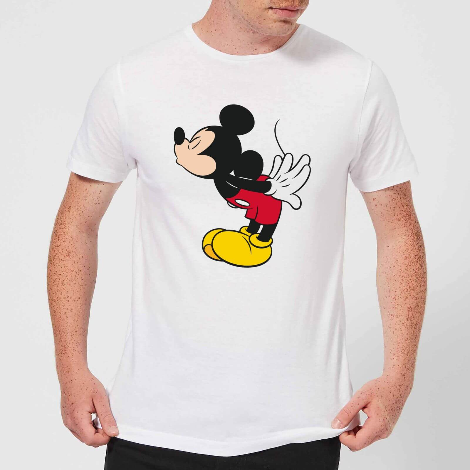 Disney Disney Mickey Mouse Mickey Split Kiss T-Shirt - White - 4XL - White