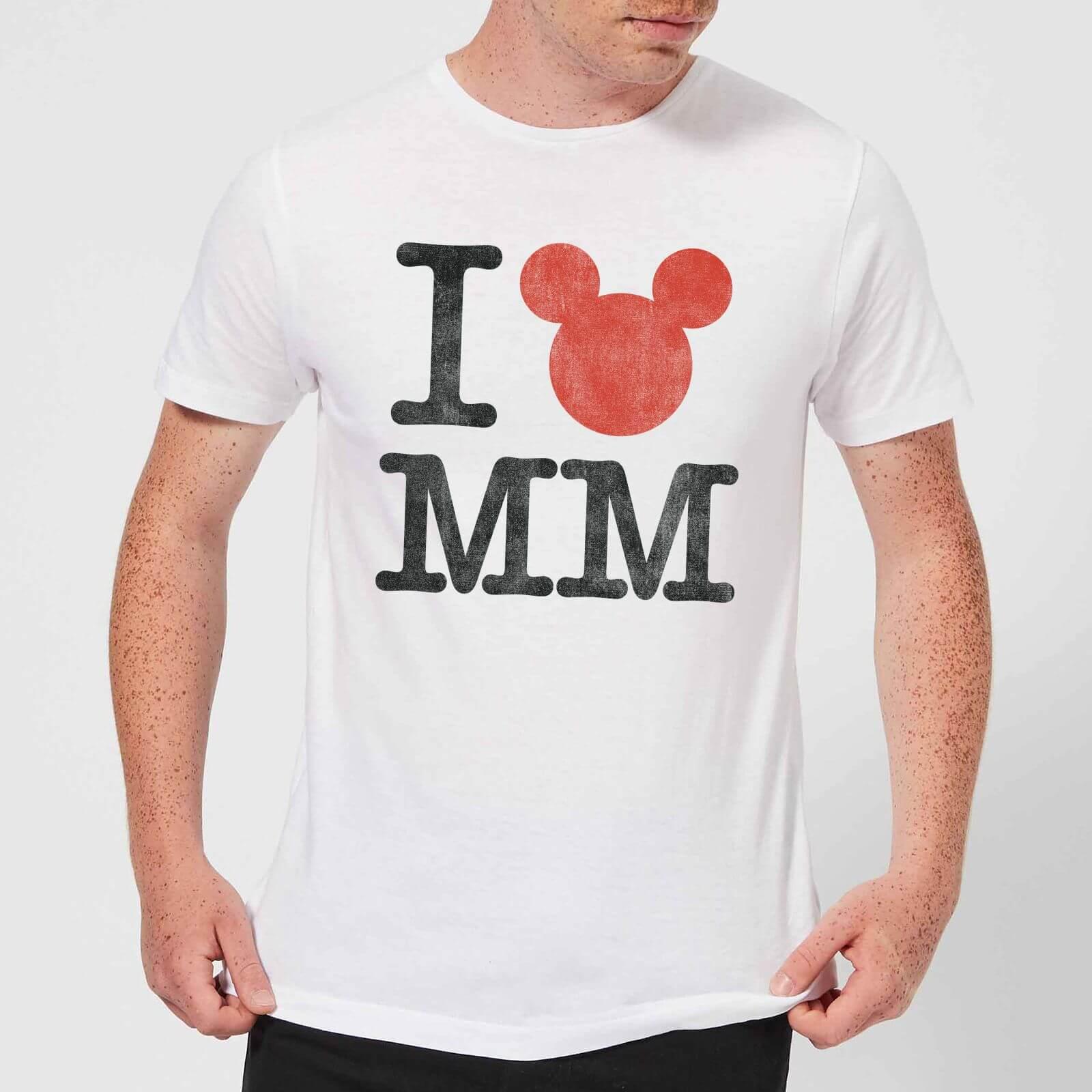 Disney Disney Mickey Mouse I Heart MM T-Shirt - White - 4XL - White