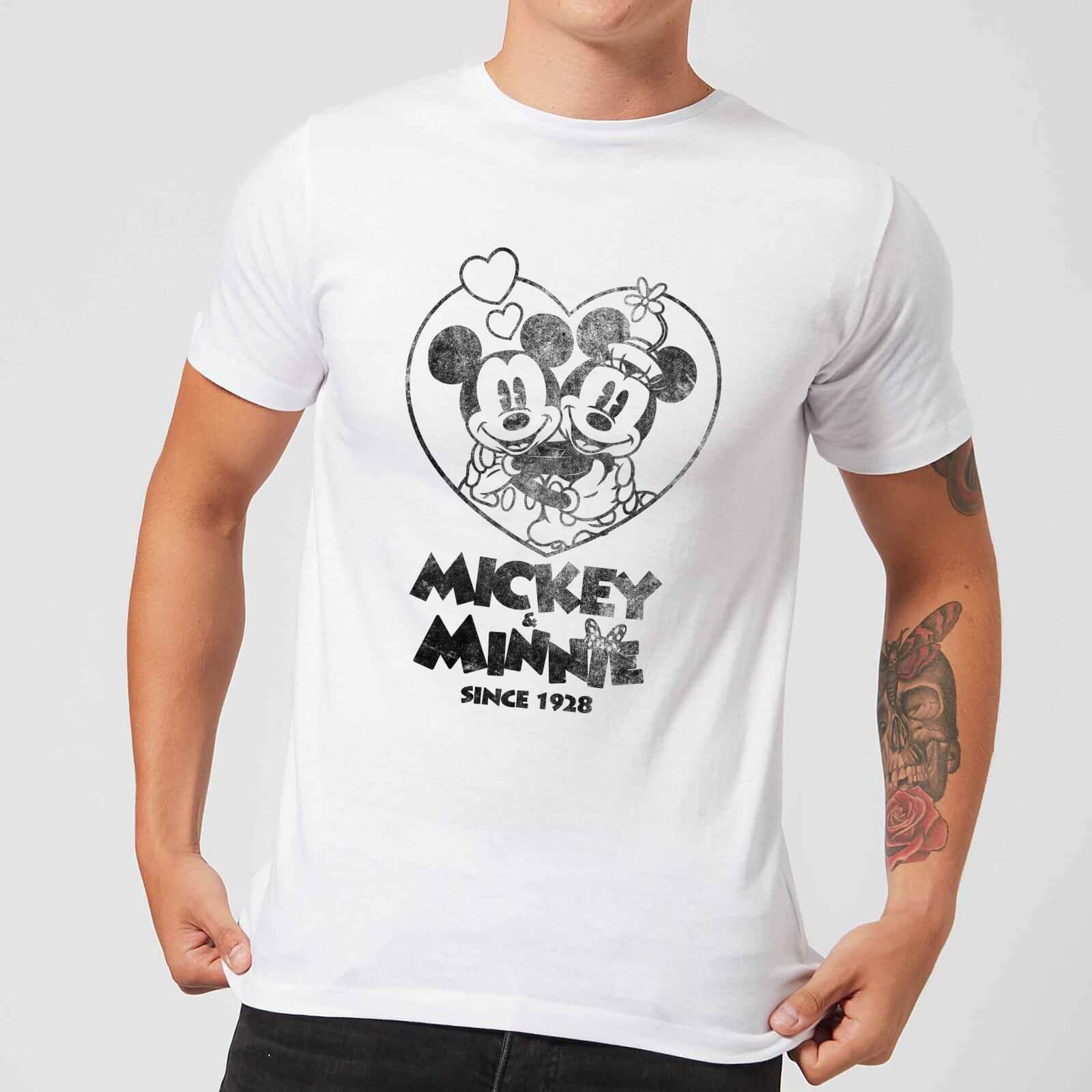 Disney Disney Minnie Mickey Since 1928 T-Shirt - White - 5XL - White