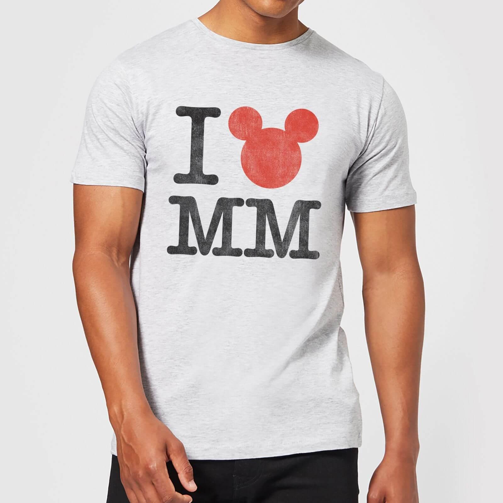 Disney Disney Mickey Mouse I Heart MM T-Shirt - Grey - 3XL - Grey