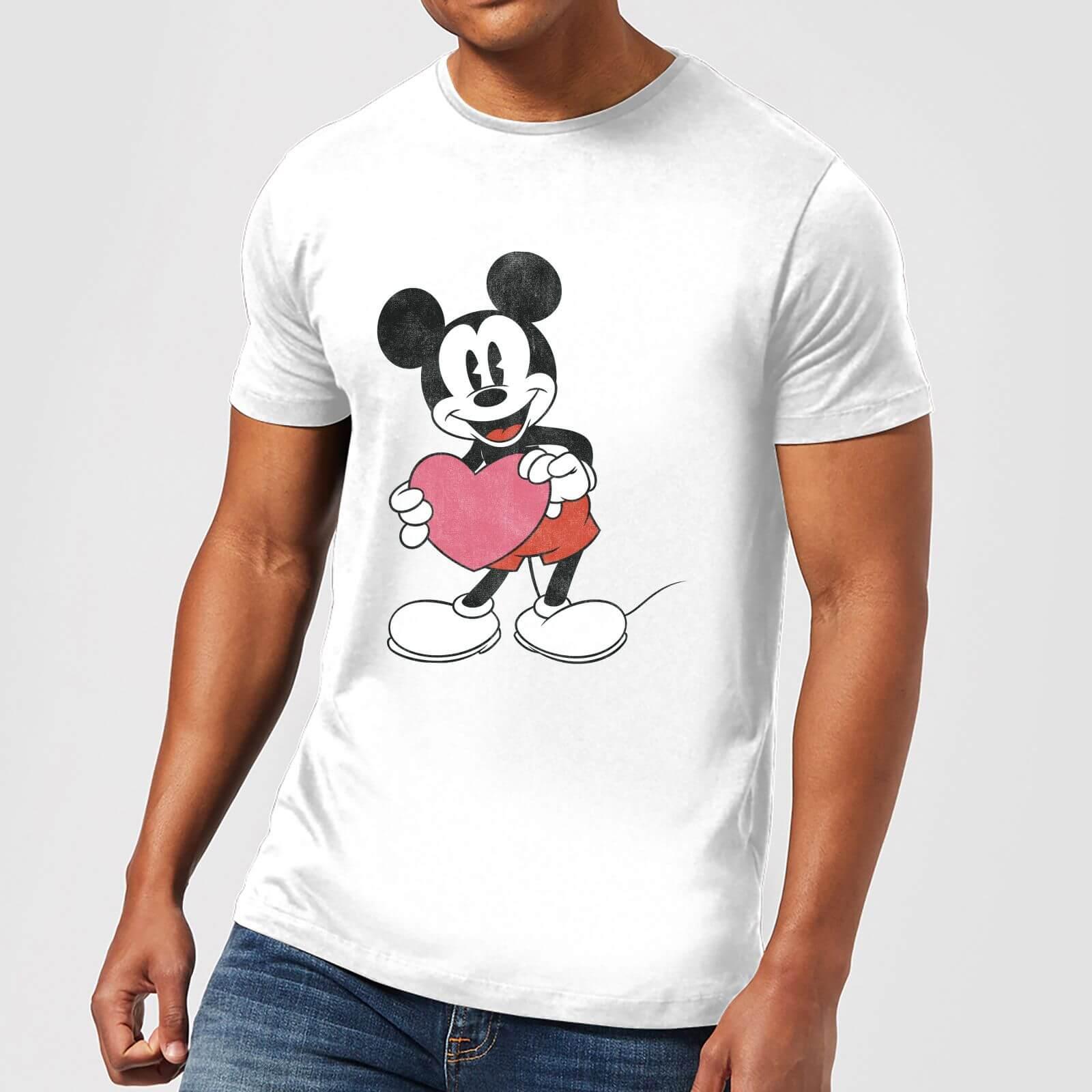 Disney Disney Mickey Mouse Heart Gift T-Shirt - White - 4XL - White