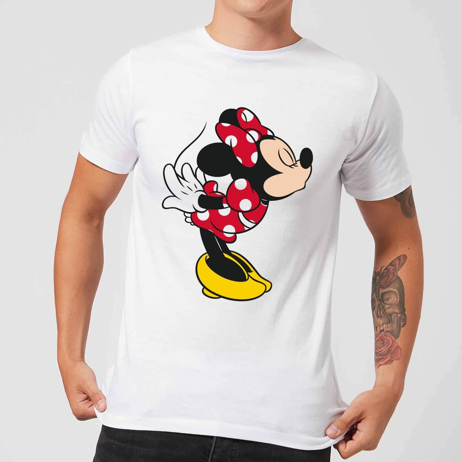 Disney Disney Mickey Mouse Minnie Split Kiss T-Shirt - White - 5XL - White