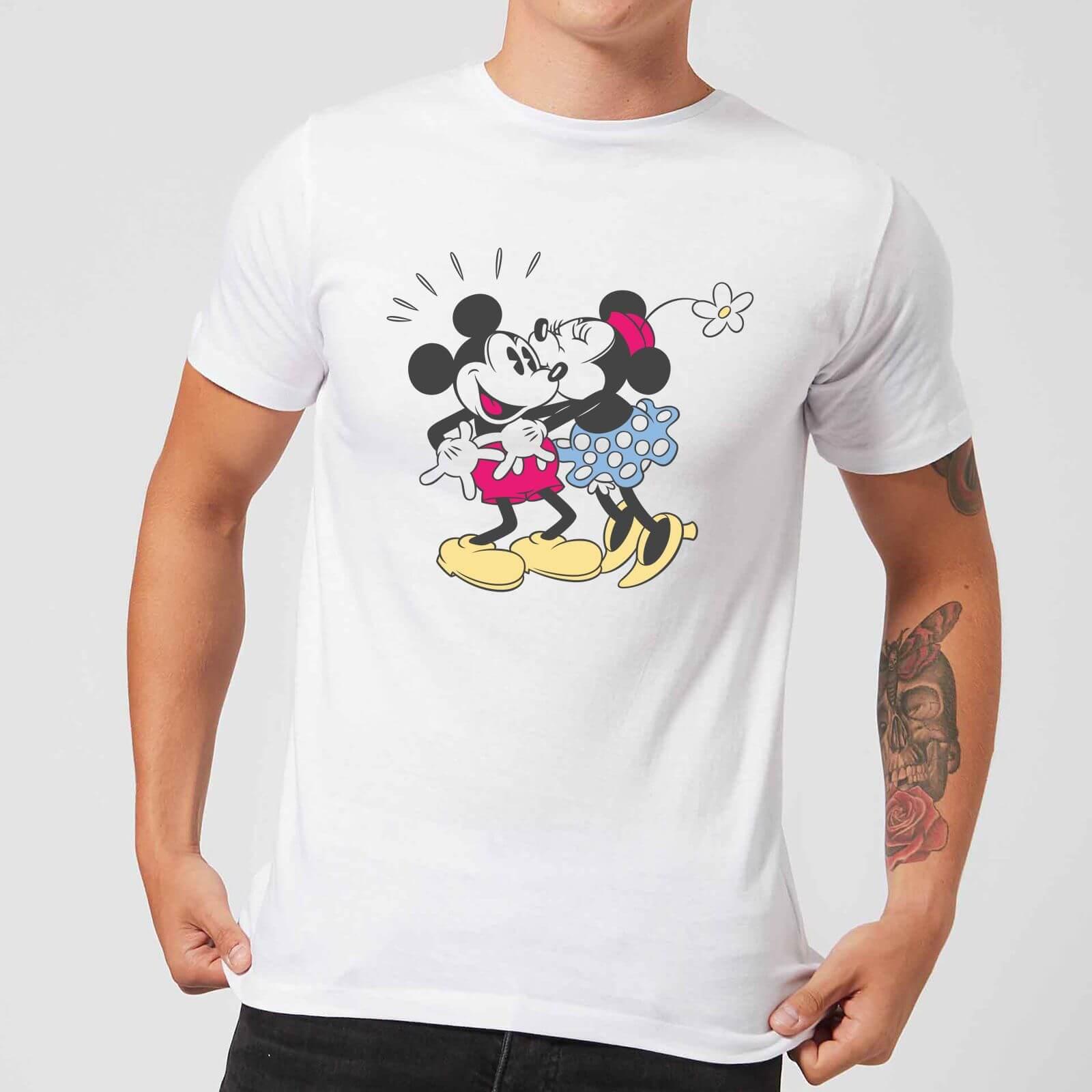Disney Disney Mickey Mouse Minnie Kiss T-Shirt - White - 3XL - White