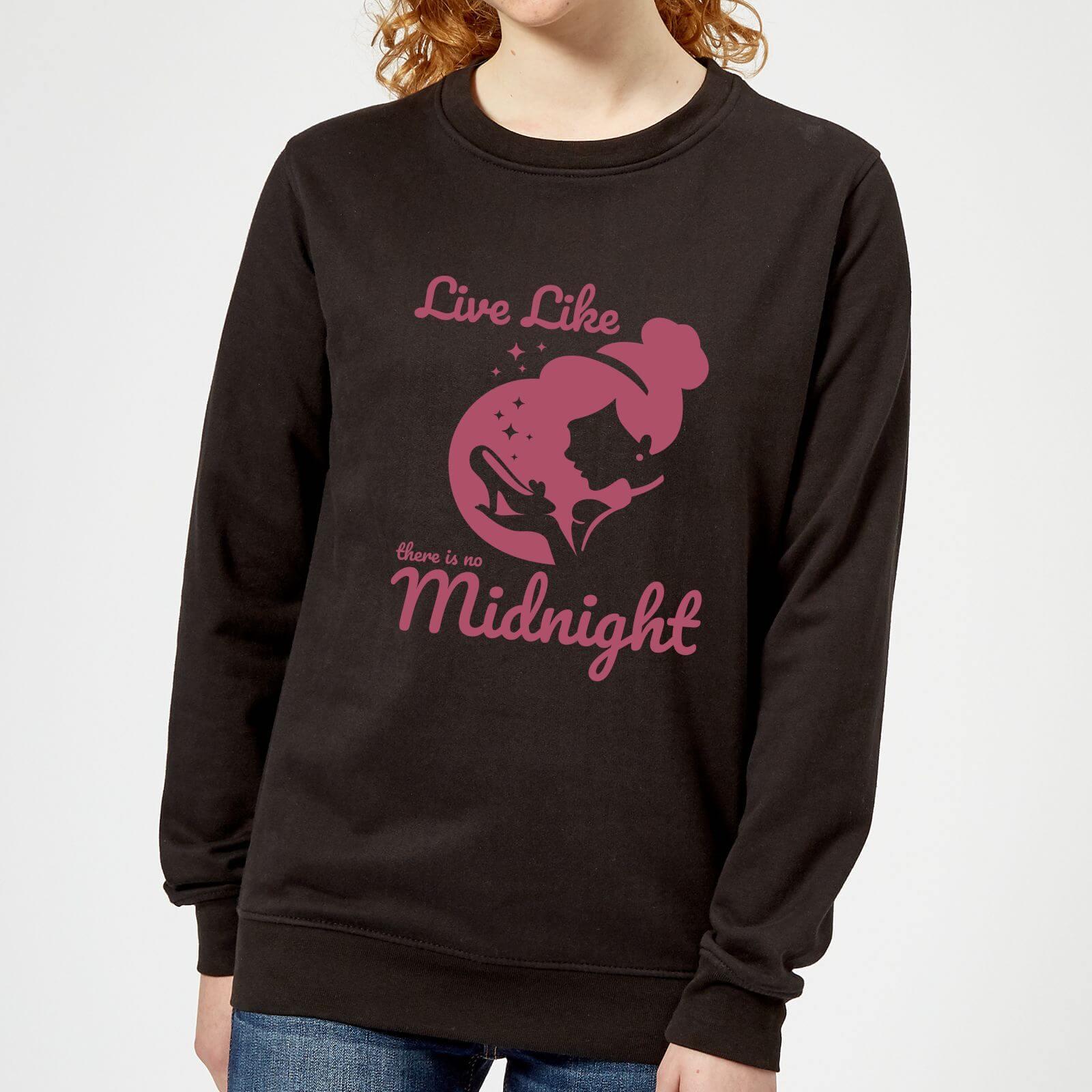 disney princess midnight women's sweatshirt - black - 5xl - black