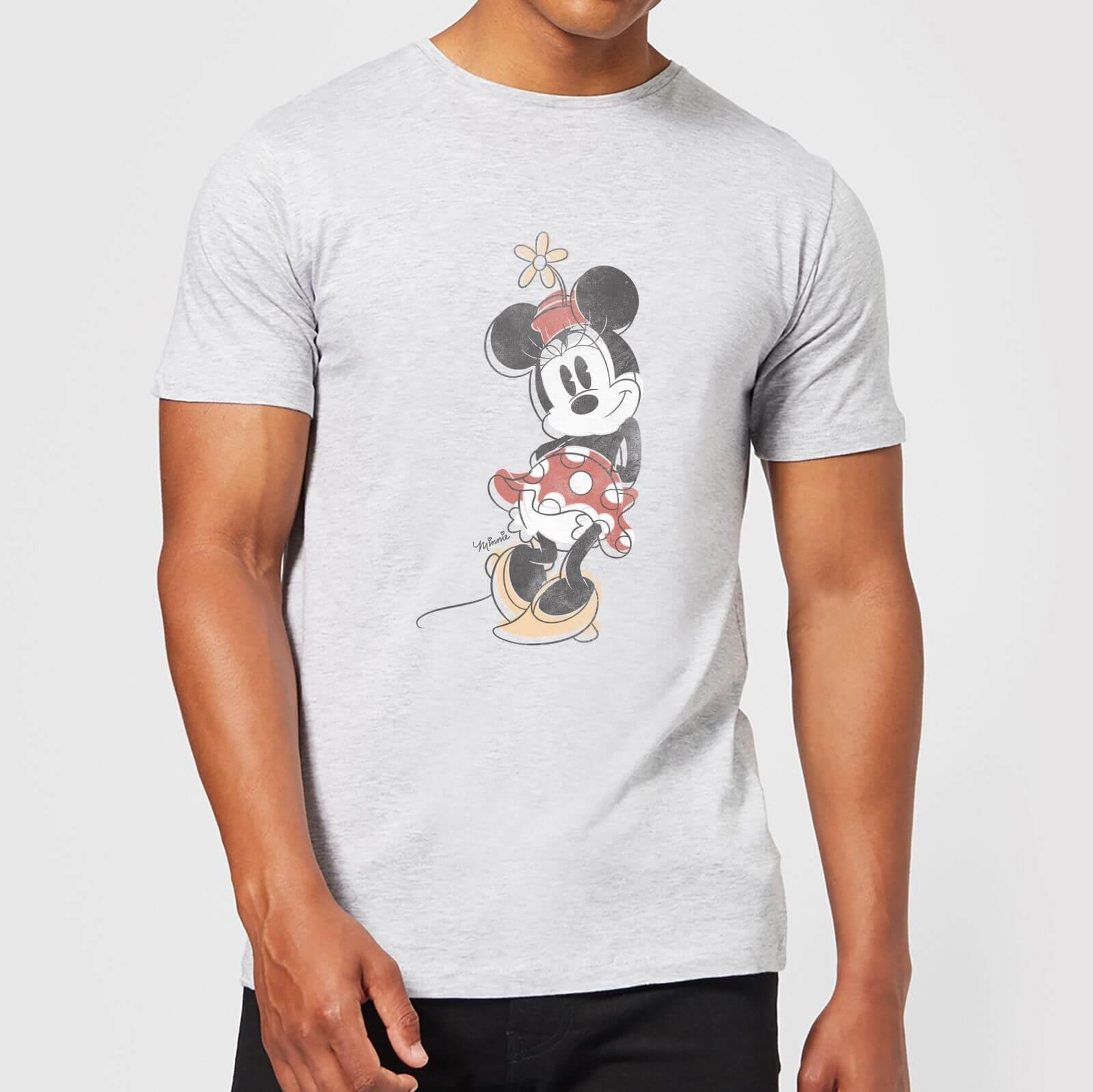 Disney Disney Mickey Mouse Minnie Offset T-Shirt - Grey - 4XL - Grey
