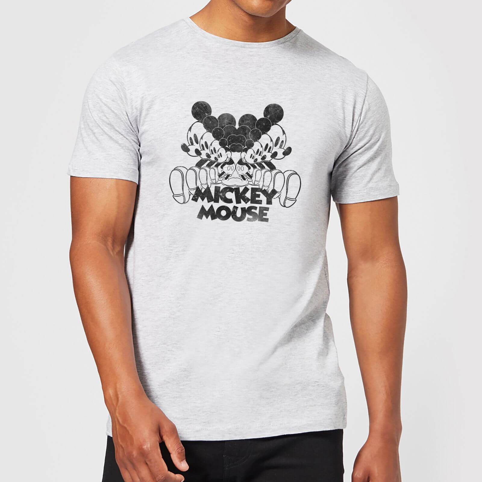 Disney Disney Mickey Mouse Mirrored T-Shirt - Grey - 5XL - Grey