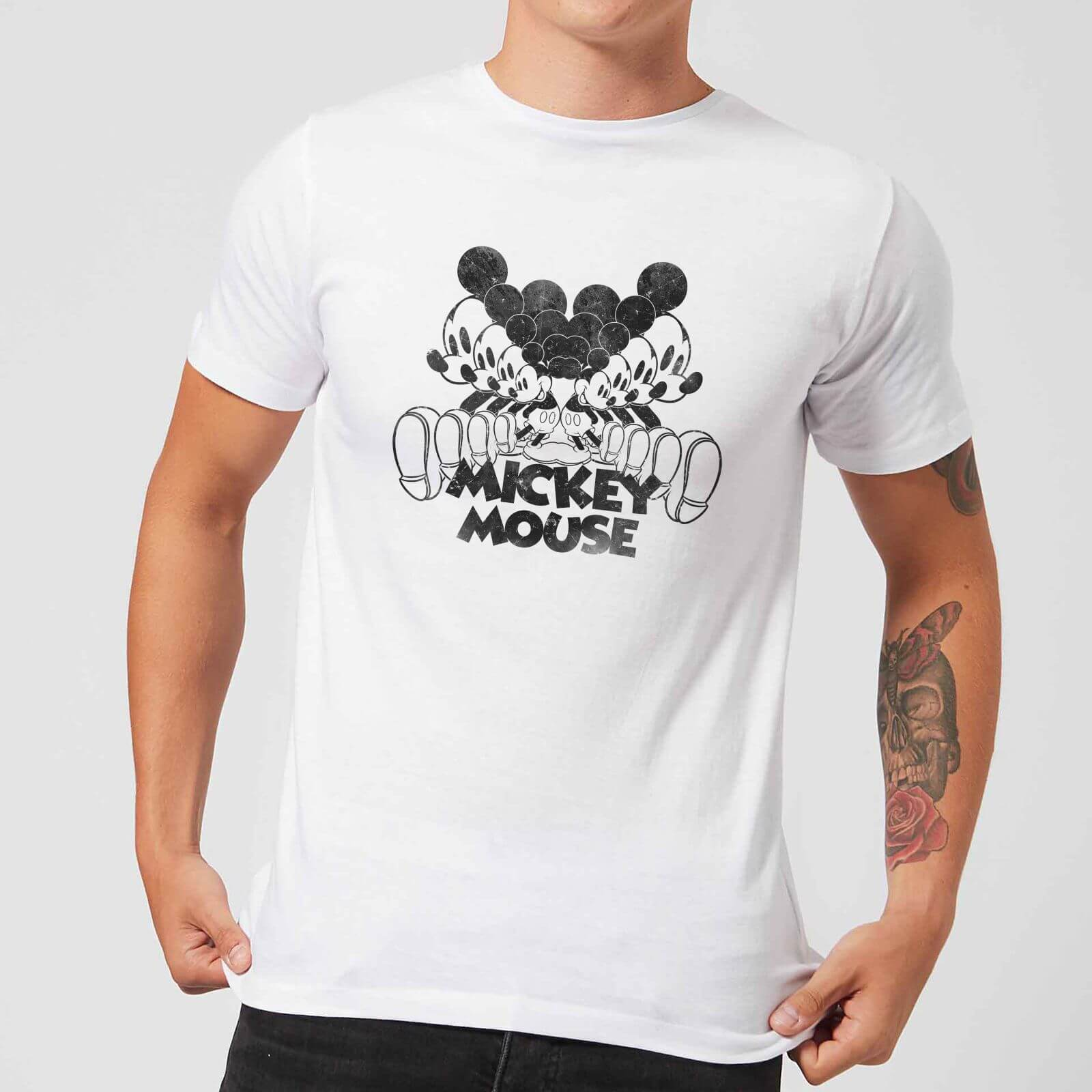Disney Disney Mickey Mouse Mirrored T-Shirt - White - 4XL - White