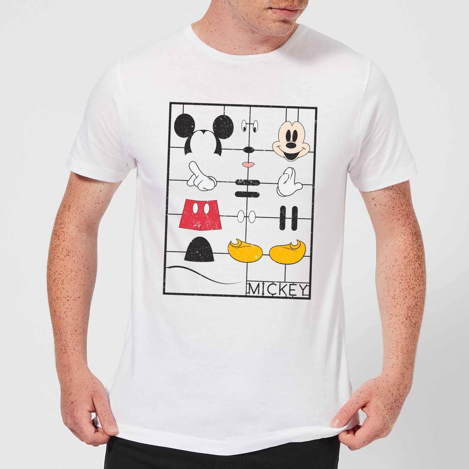 Disney Disney Mickey Mouse Construction Kit T-Shirt - White - 3XL - White