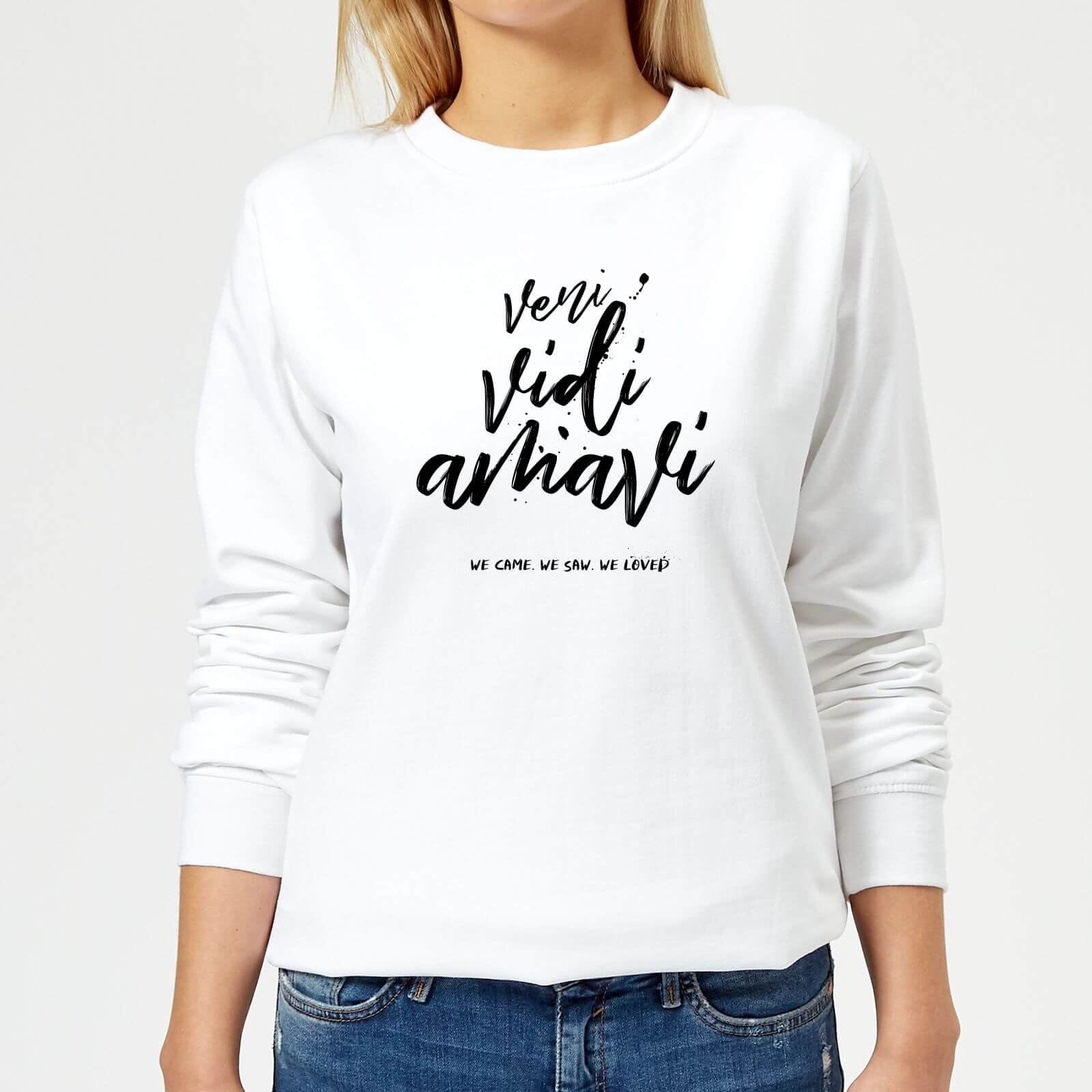 The Valentines Collection We Came. We Saw. We Loved. Womens Sweatshirt - White - 4XL - White
