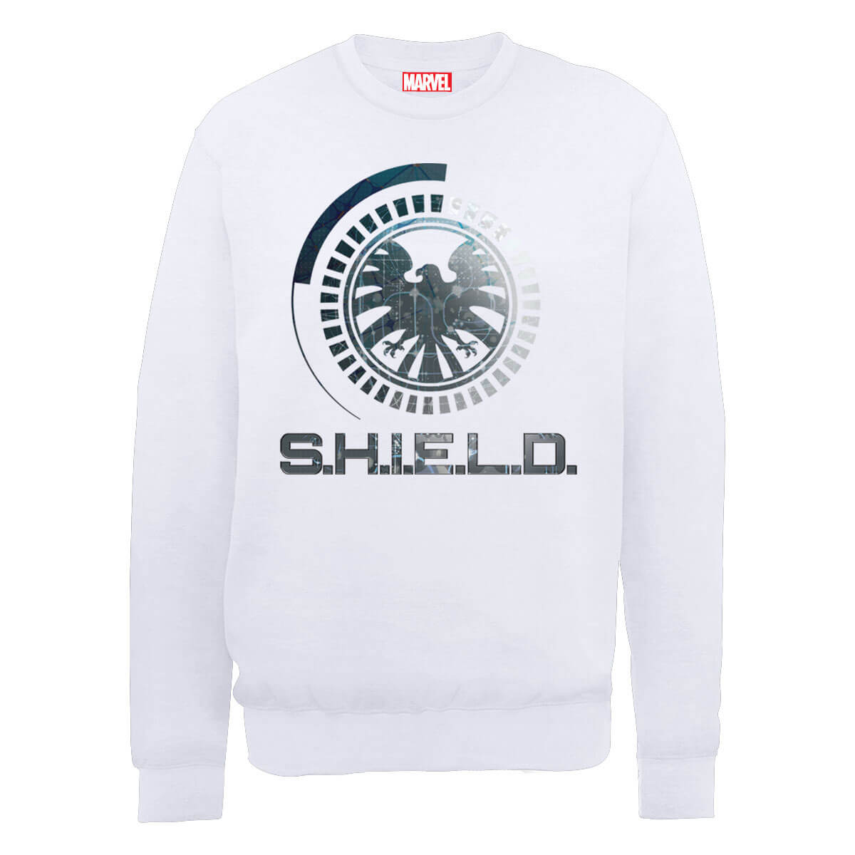 Marvel Avengers Assemble Shield Badge Sweatshirt - White - XXL - White