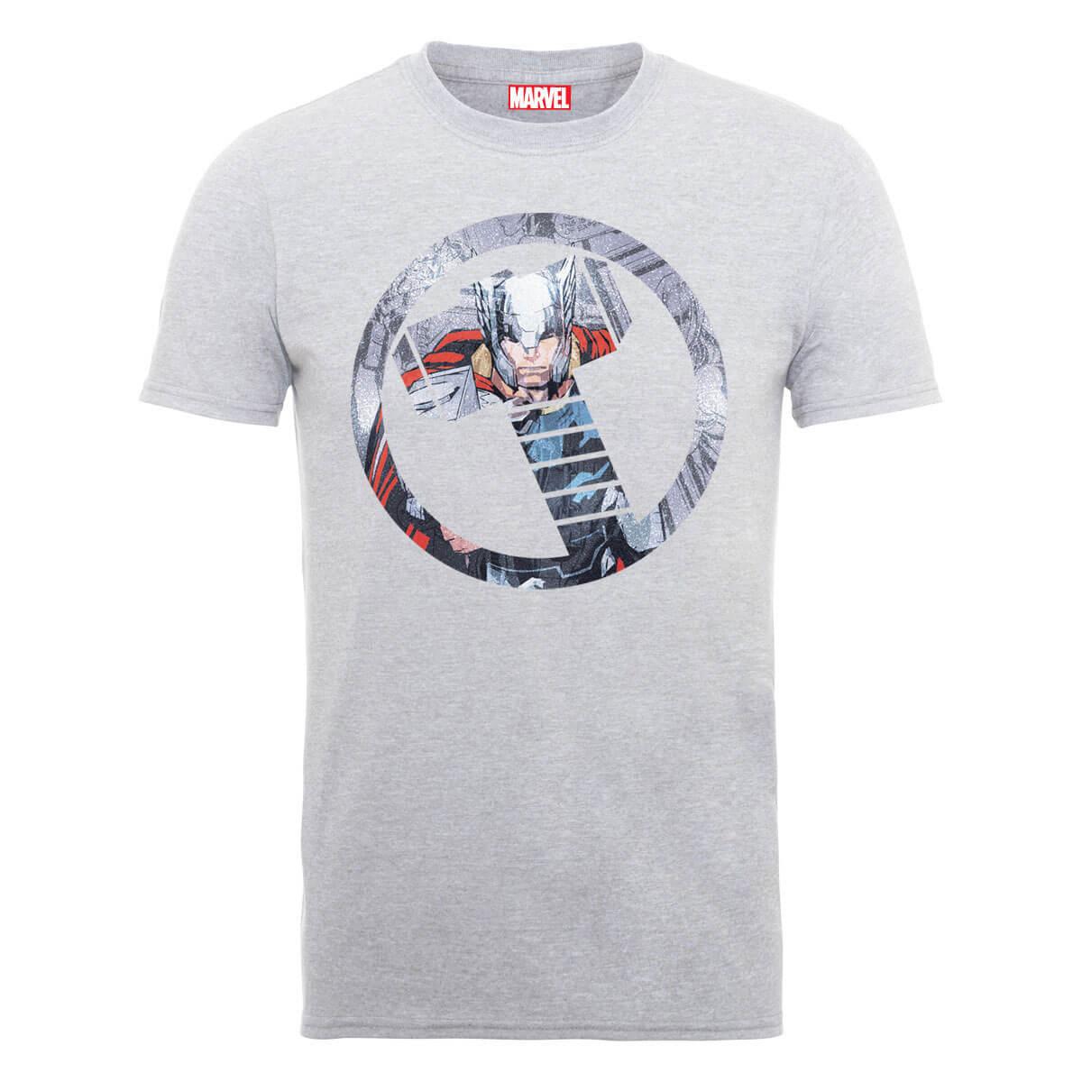 Marvel Avengers Assemble Thor Montage T-Shirt - Grau - M - Grau