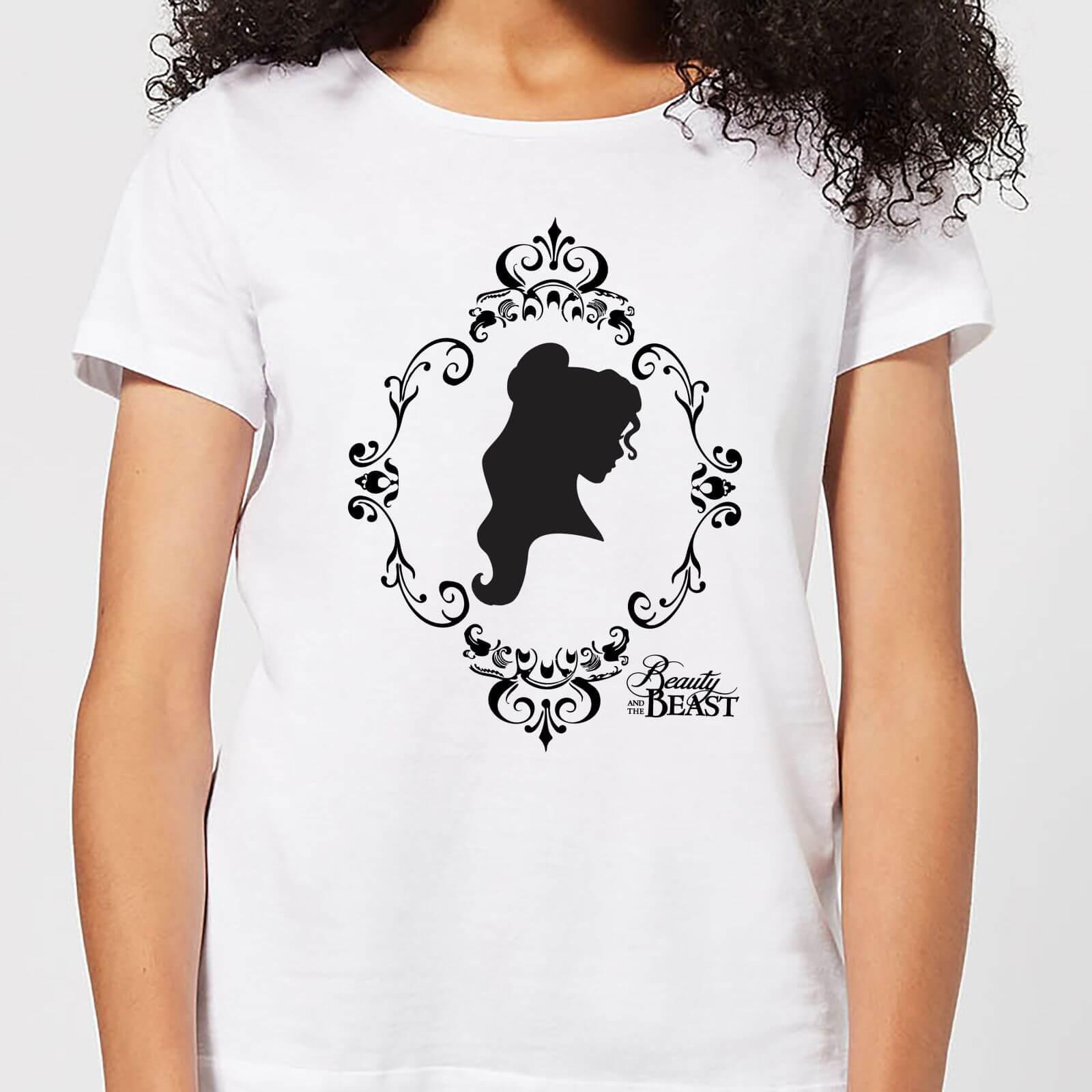 Disney Die Schöne und das Biest Belle Silhouette Damen T-Shirt - Weiß - 5XL - Weiß