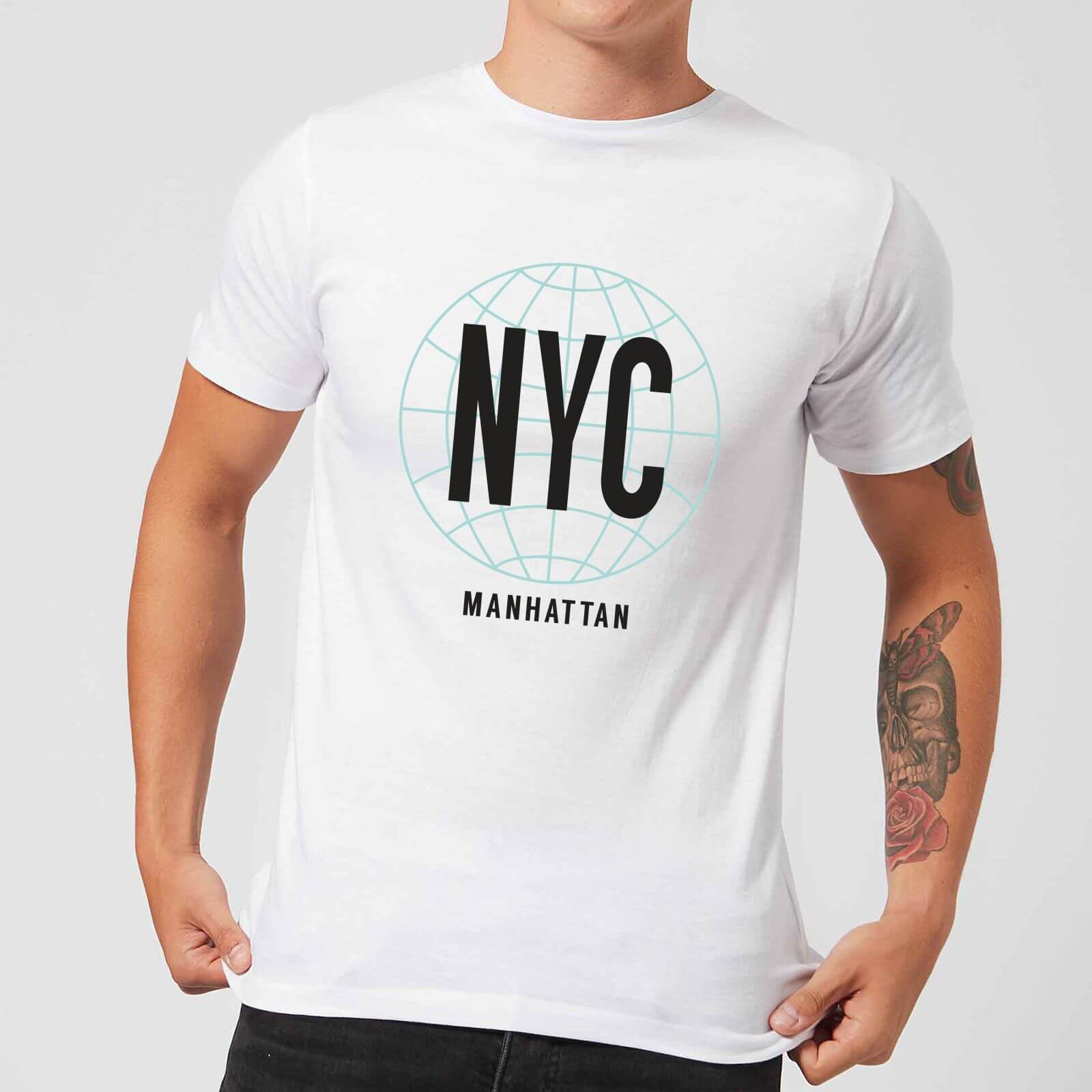 Image of NYC Manhattan T-Shirt - White - XS - Bianco