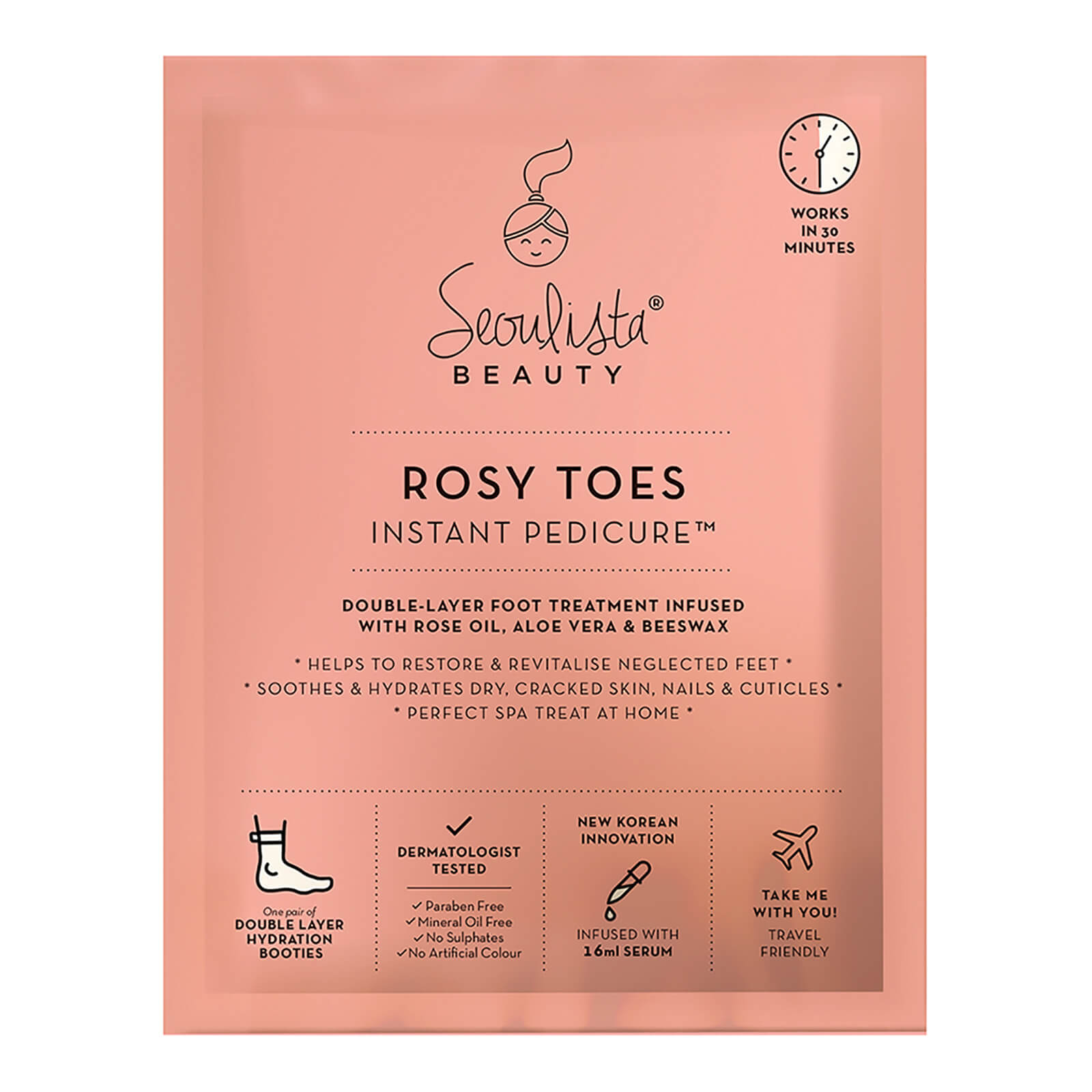 Купить Маска для стоп Seoulista Beauty Rosy Toes Instant Pedicure