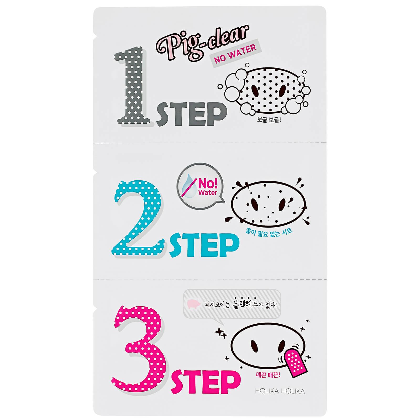 Купить Безводная система для очищения пор Holika Holika Pig Clear Blackhead 3-Step Kit (No Water)