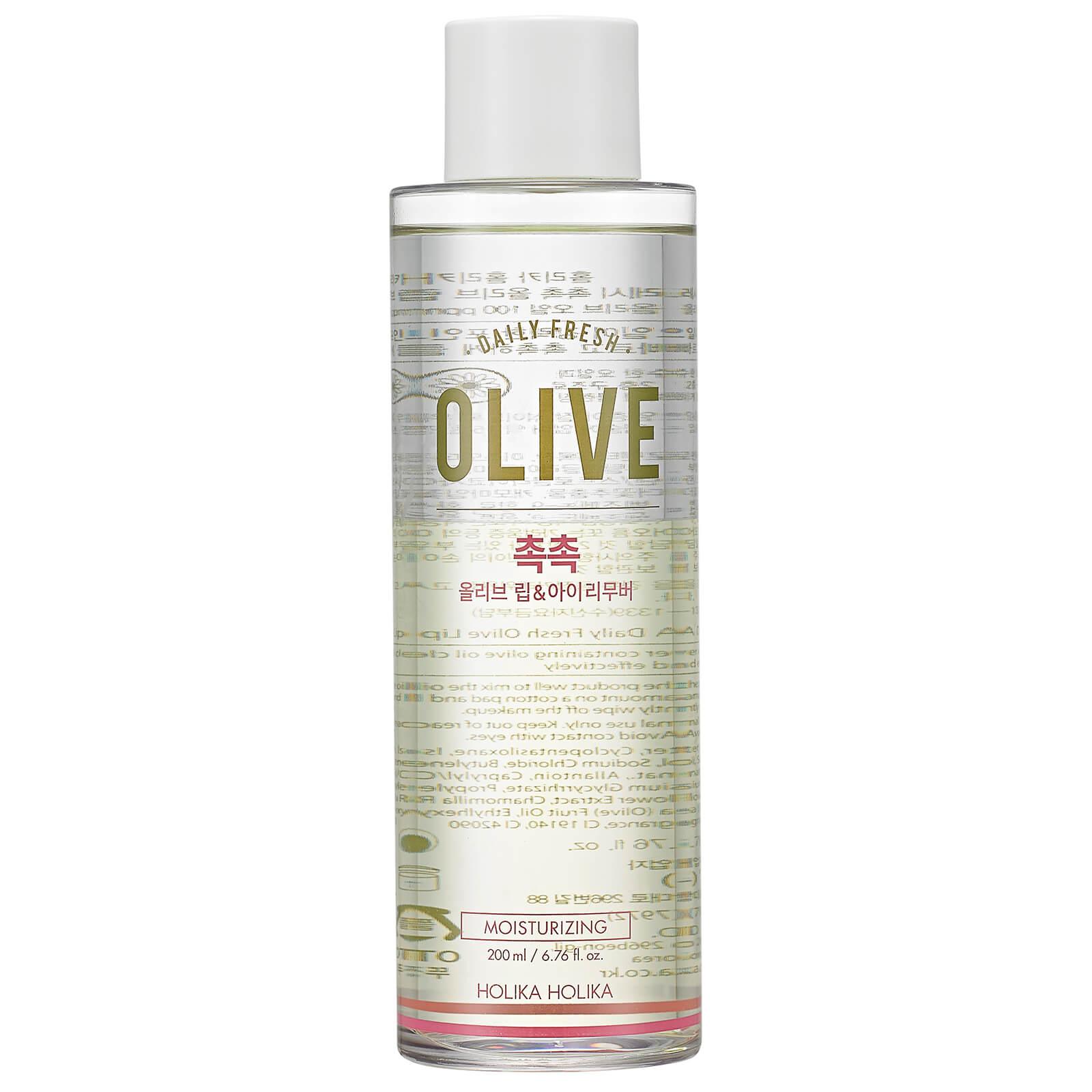 Купить Двухфазная жидкость для снятия макияжа с экстрактом оливы Holika Holika Daily Fresh Olive Lip & Eye Remover 200 мл