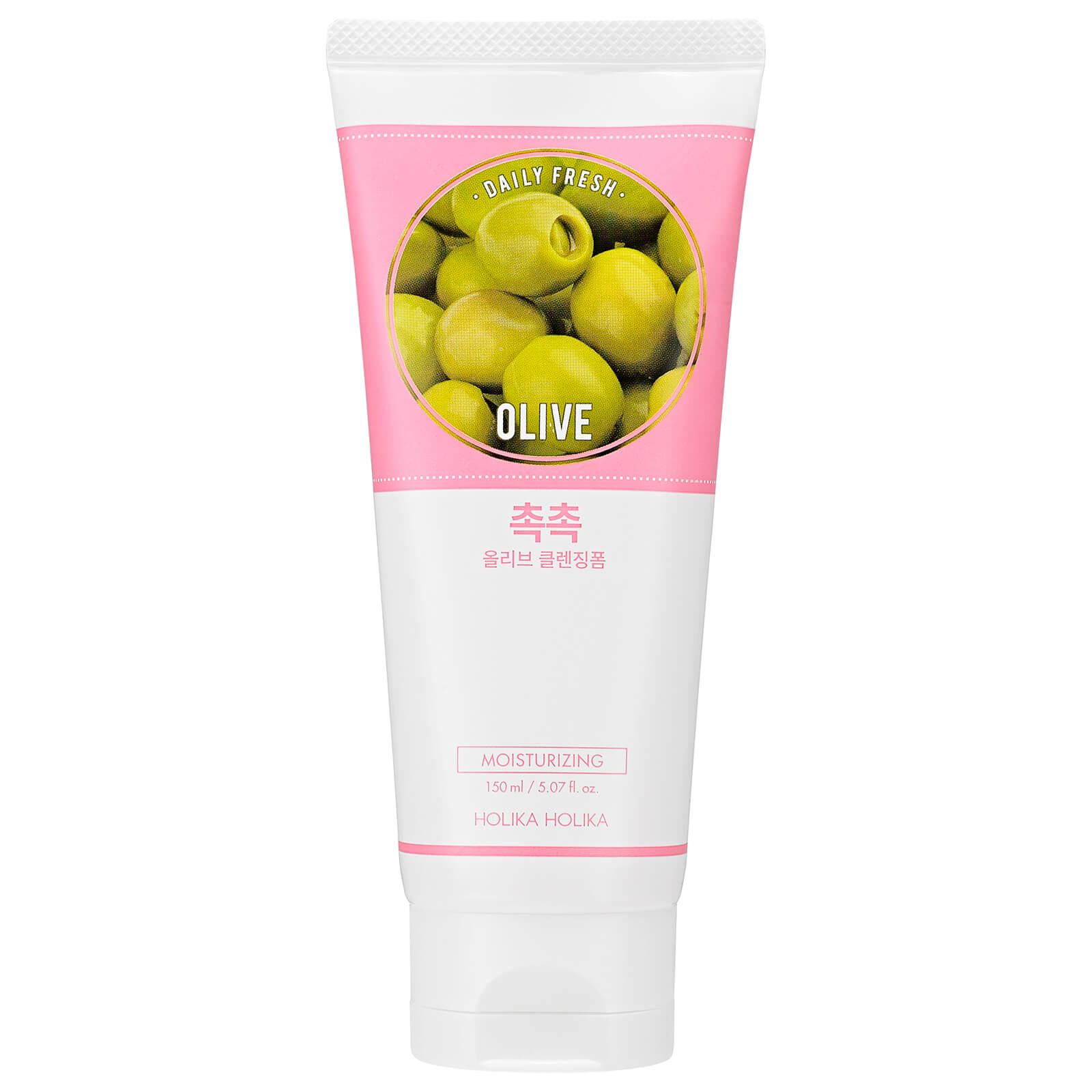 Купить Увлажняющая очищающая пенка с экстрактом оливы Holika Holika Daily Fresh Olive Cleansing Foam 150 мл