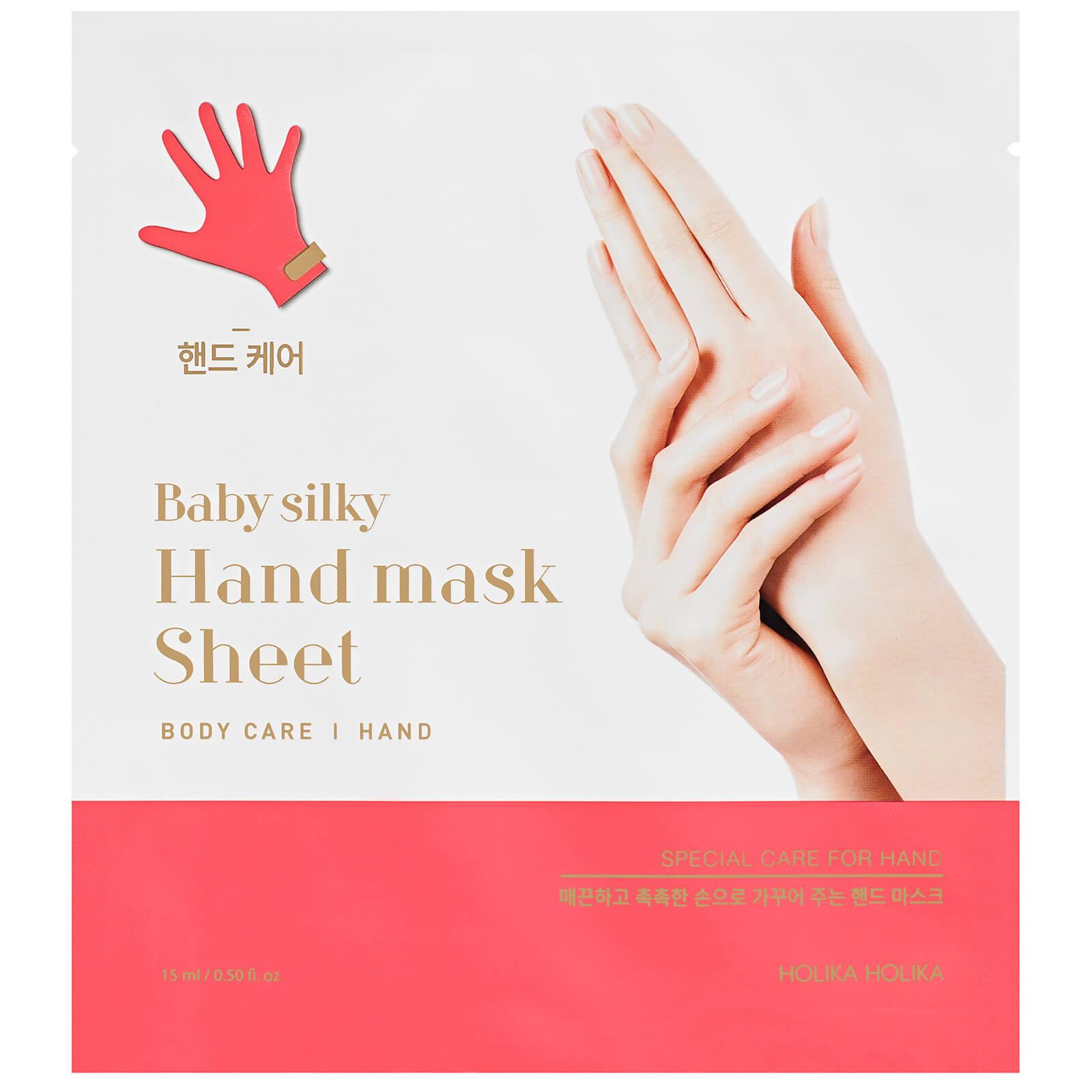 Купить Увлажняющая тканевая маска для рук Holika Holika Baby Silky Hand Mask Sheet