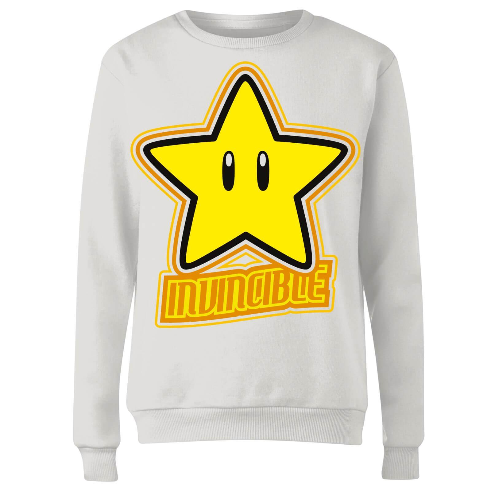 Nintendo Super Mario Invincible Women's Sweatshirt - White - XXL - White