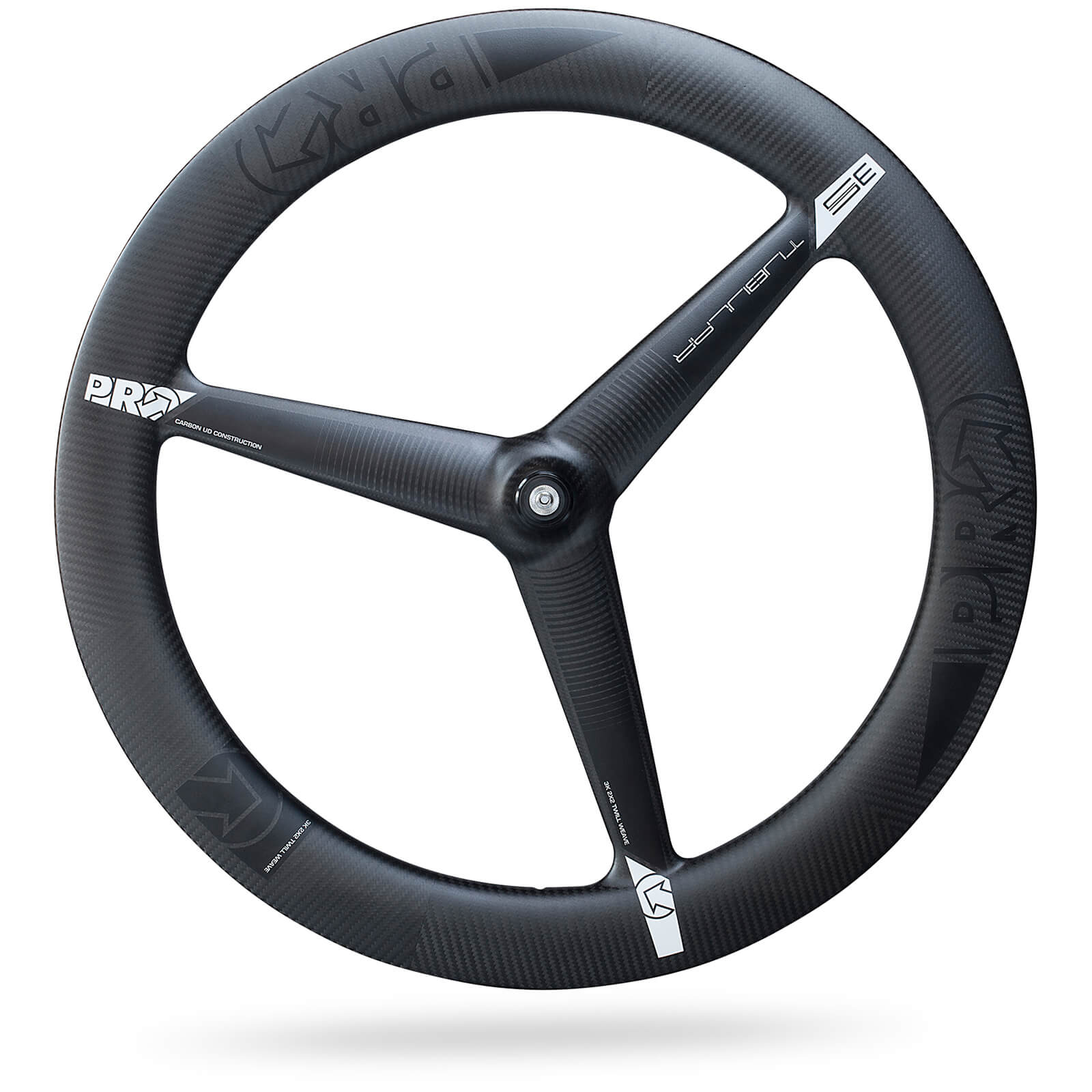 PRO Carbon Tubular 3 Spoke Front Wheel - Ultegra Hub