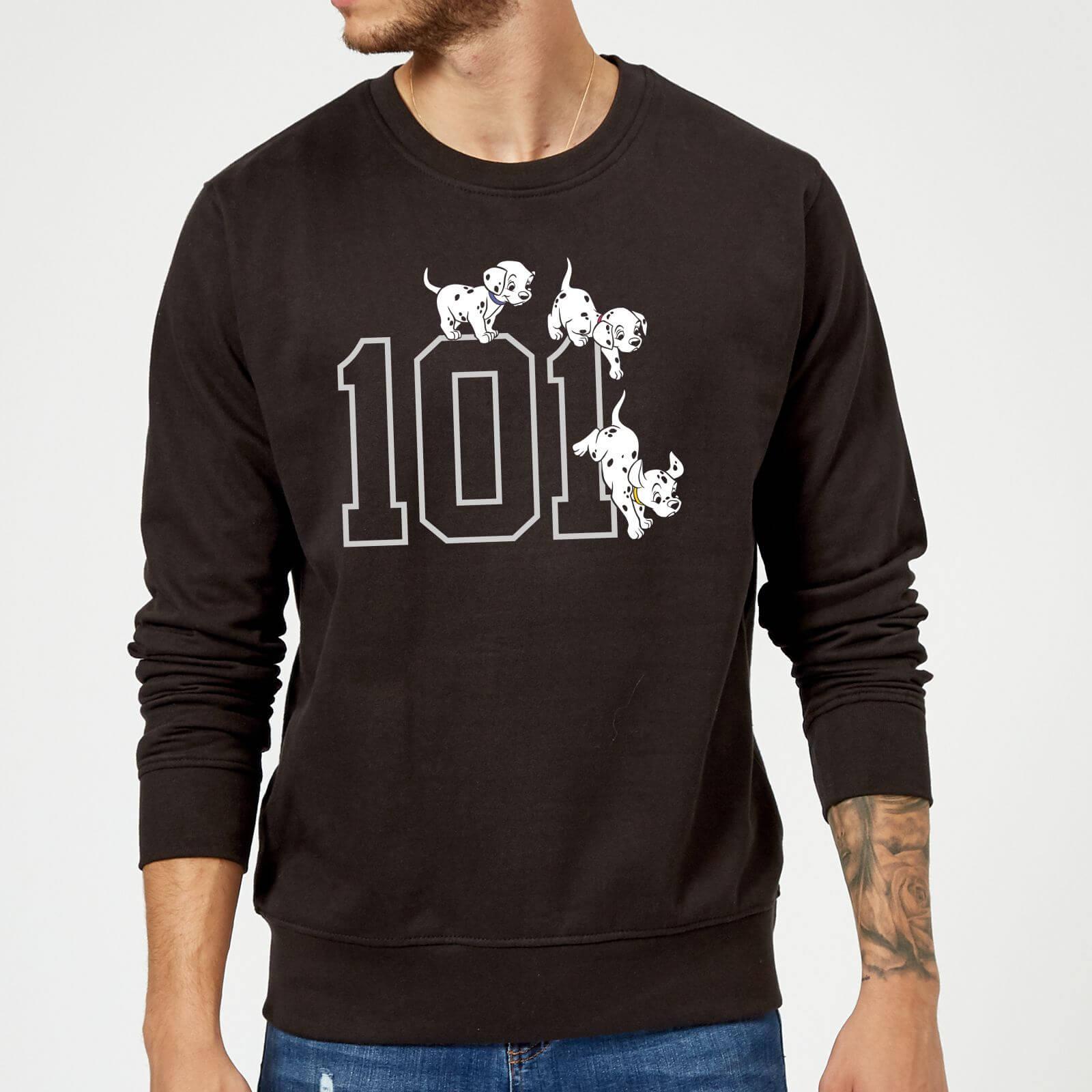 Disney Disney 101 Dalmatians 101 Doggies Sweatshirt - Black - 5XL - Black