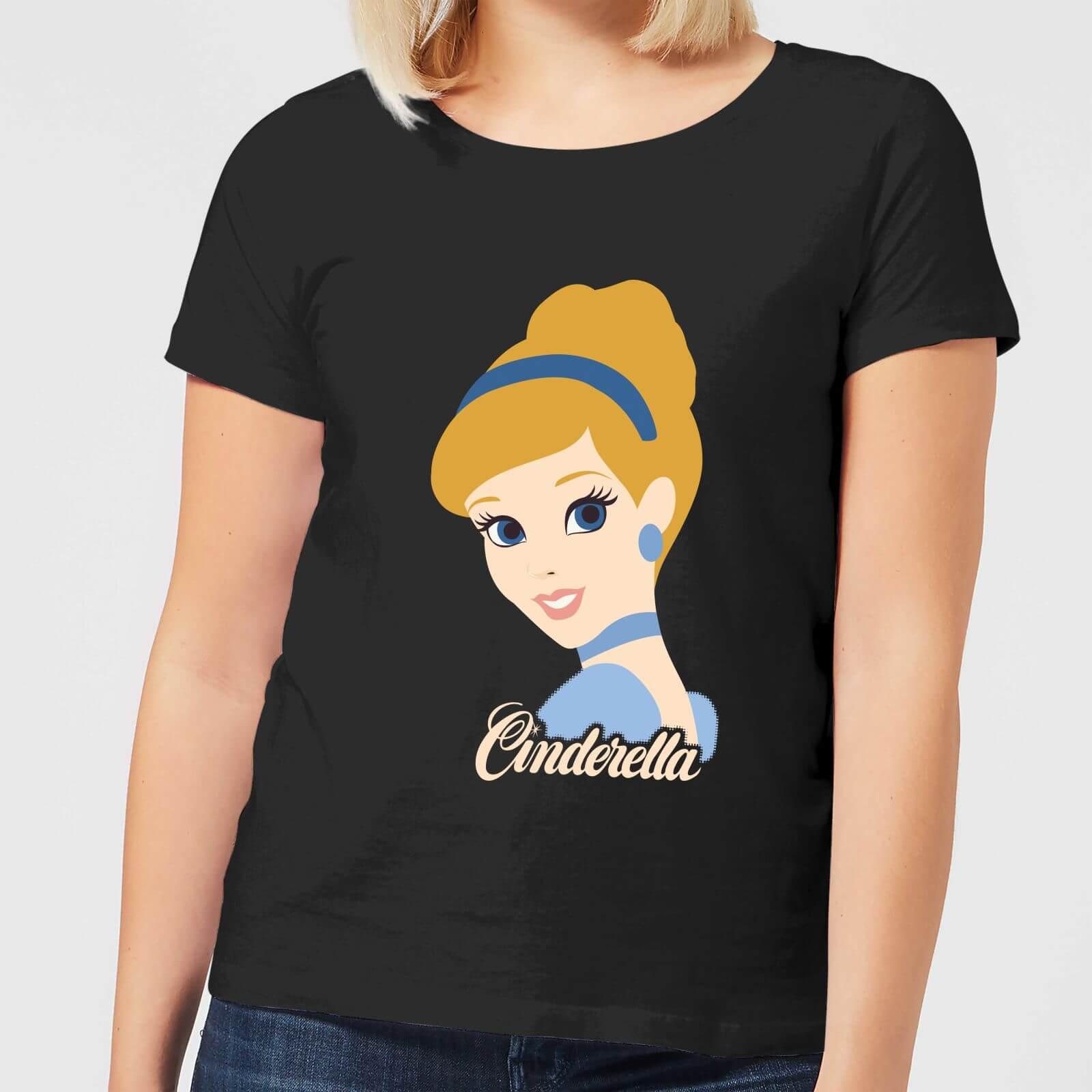 Disney Princess Colour Silhouette Cinderella Women's T-Shirt - Black - S - Black