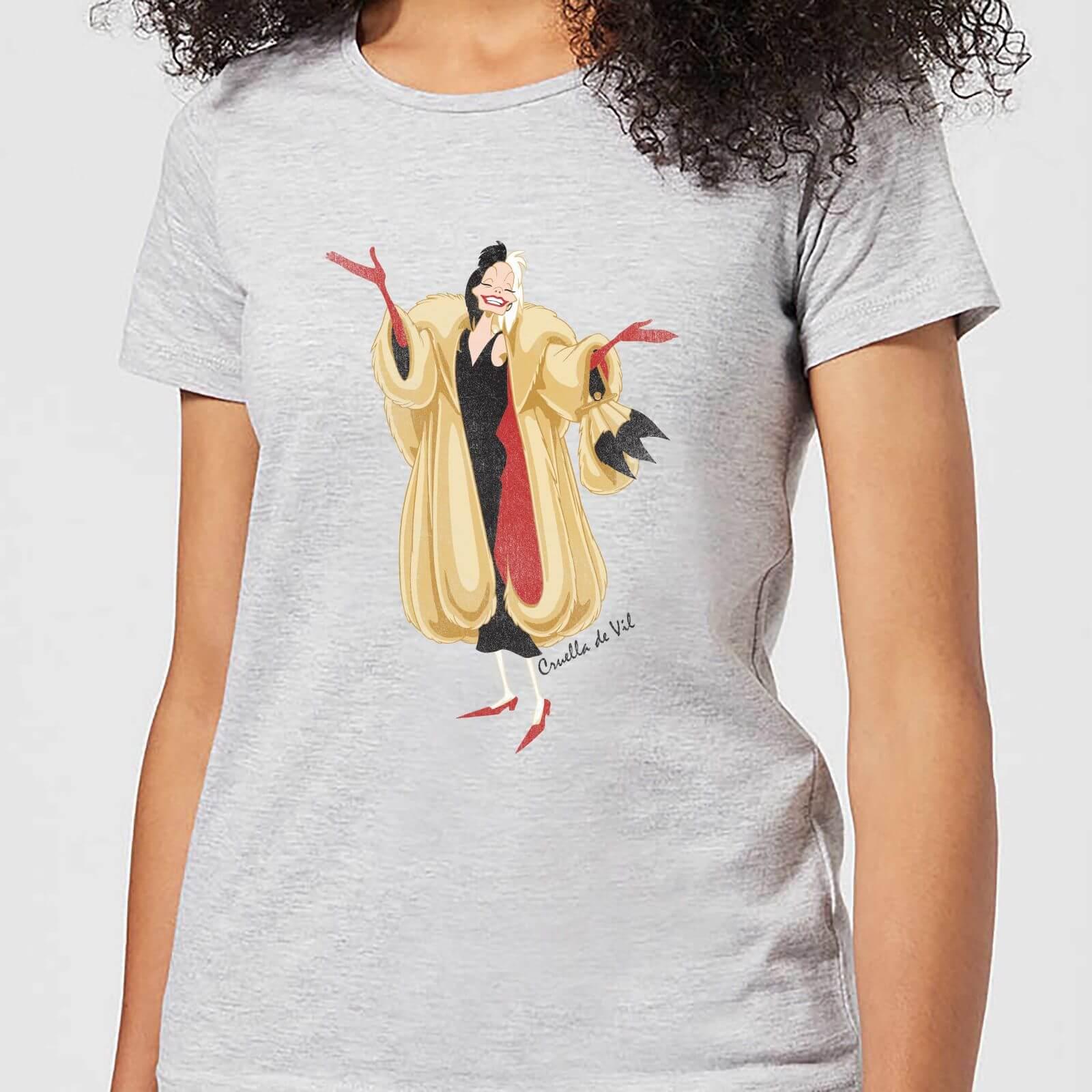 Disney 101 Dalmations Cruella De Vil Women's T-Shirt - Grey - S - Grey