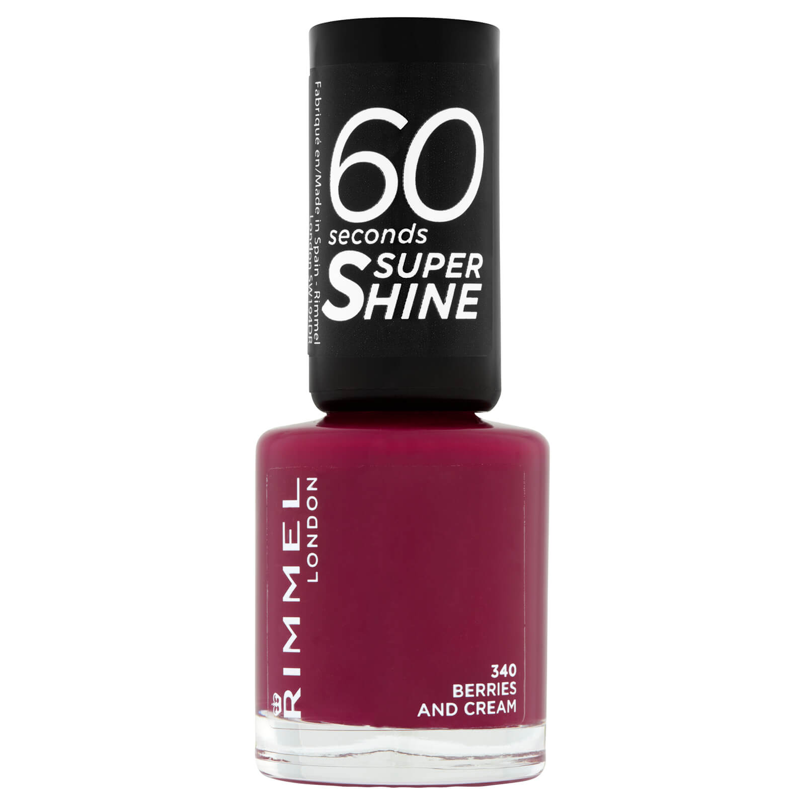 Rimmel 60 Seconds Super Shine Nail Polish 8ml (Various Shades) - Berries and Cream