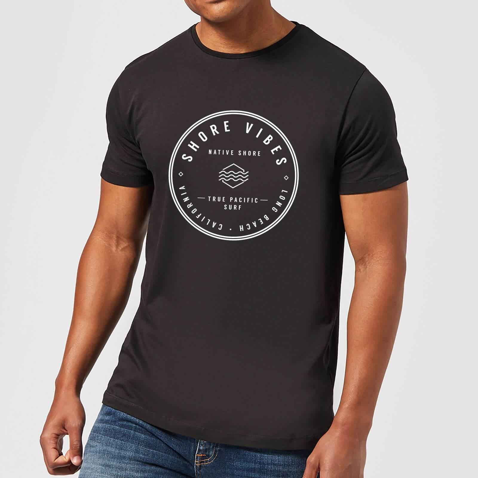 Native Shore Men's Shore Vibes T-Shirt - Black - L - Schwarz
