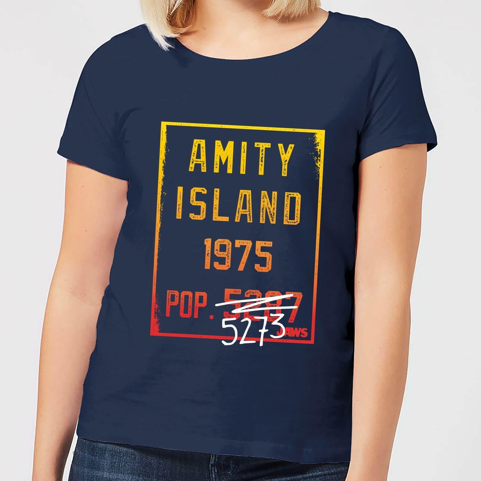 Jaws Amity Population Women's T-Shirt - Navy - XXL - Navy