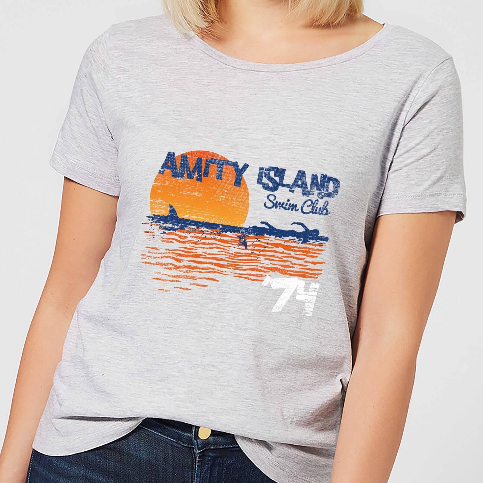 Jaws Amity Swim Club Women's T-Shirt - Grey - 5XL - Grey