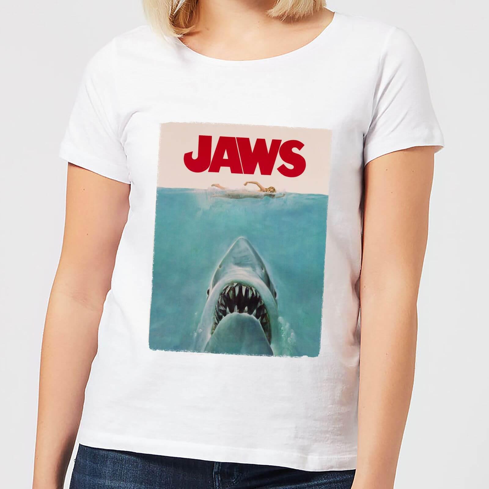Jaws Classic Poster Women's T-Shirt - White - 3XL - White