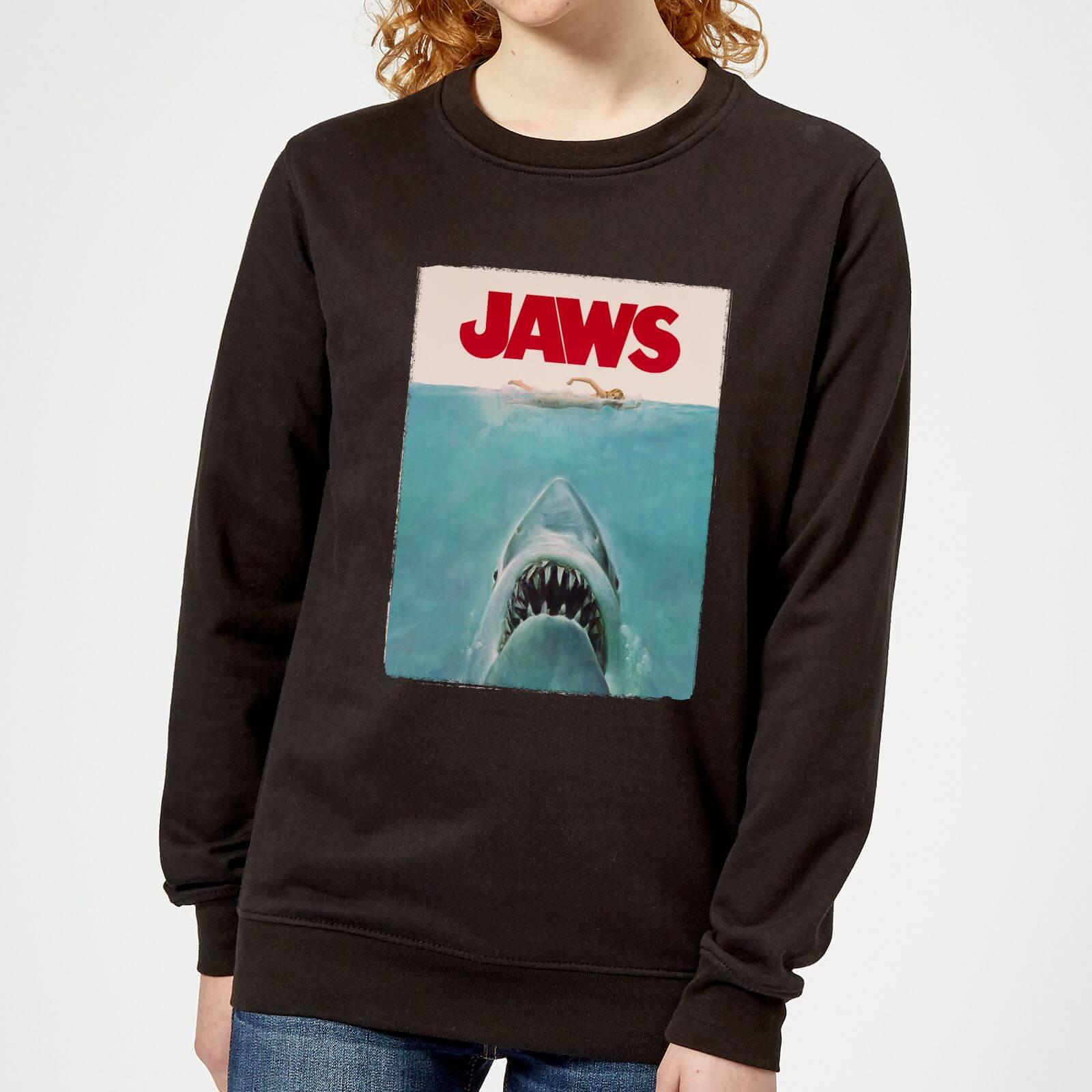 Jaws Classic Poster Women's Sweatshirt - Black - S - Black