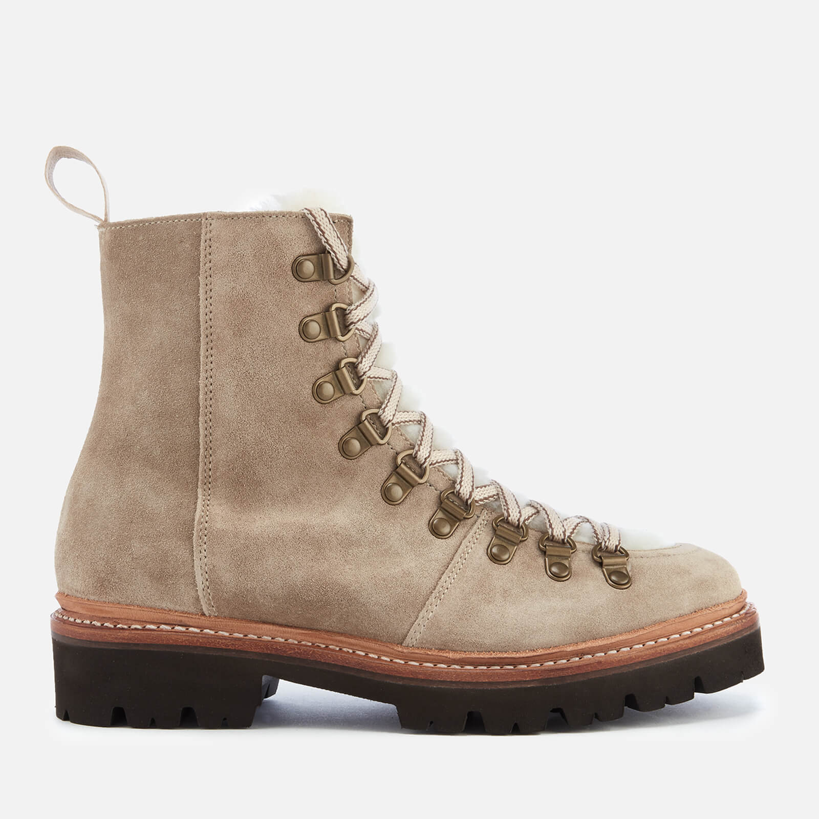 Grenson Women's Nanette Suede Hiking Style Boots - Maple - Uk 3