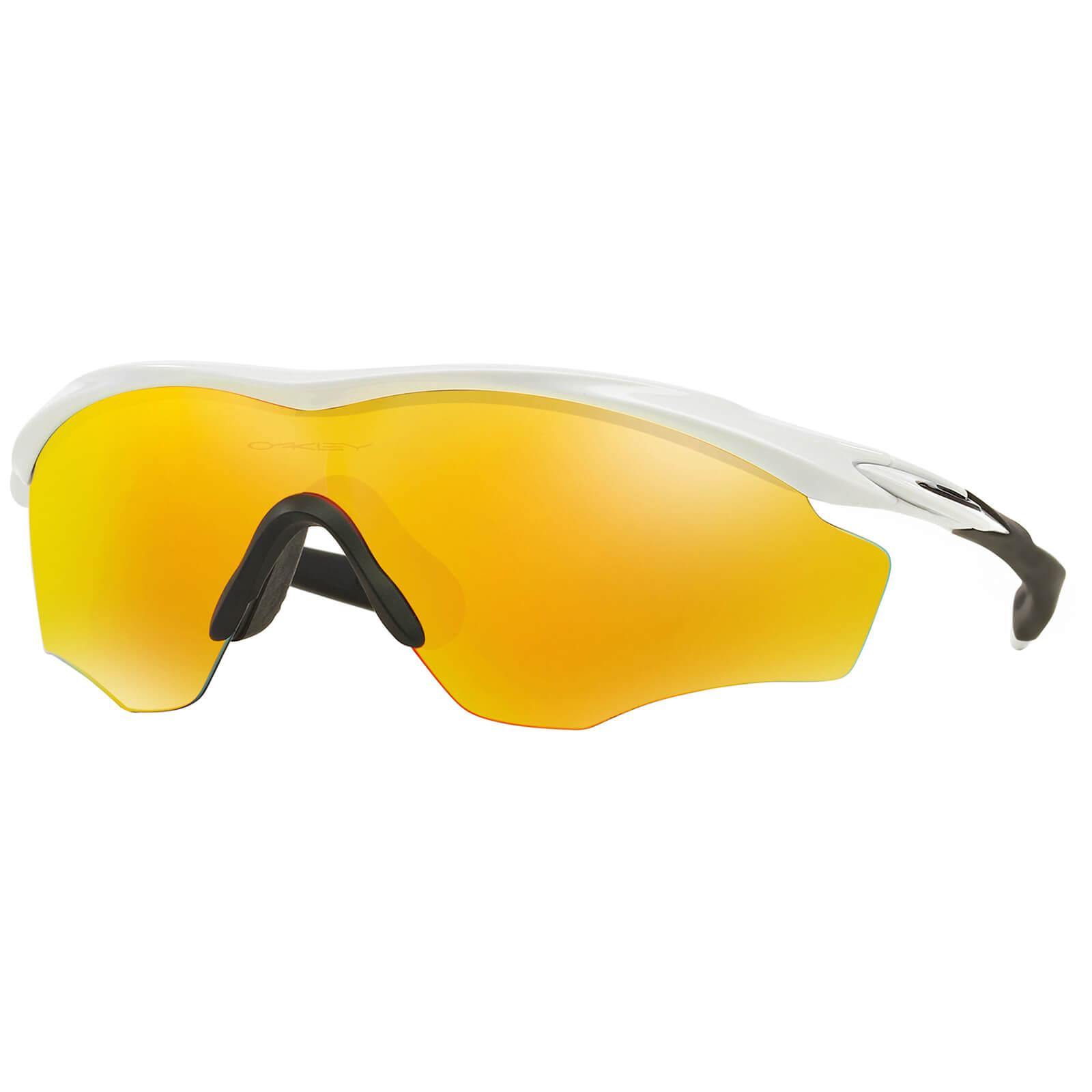 Oakley M2 XL Frame Road Sunglasses - Polished White/Fire Irdium