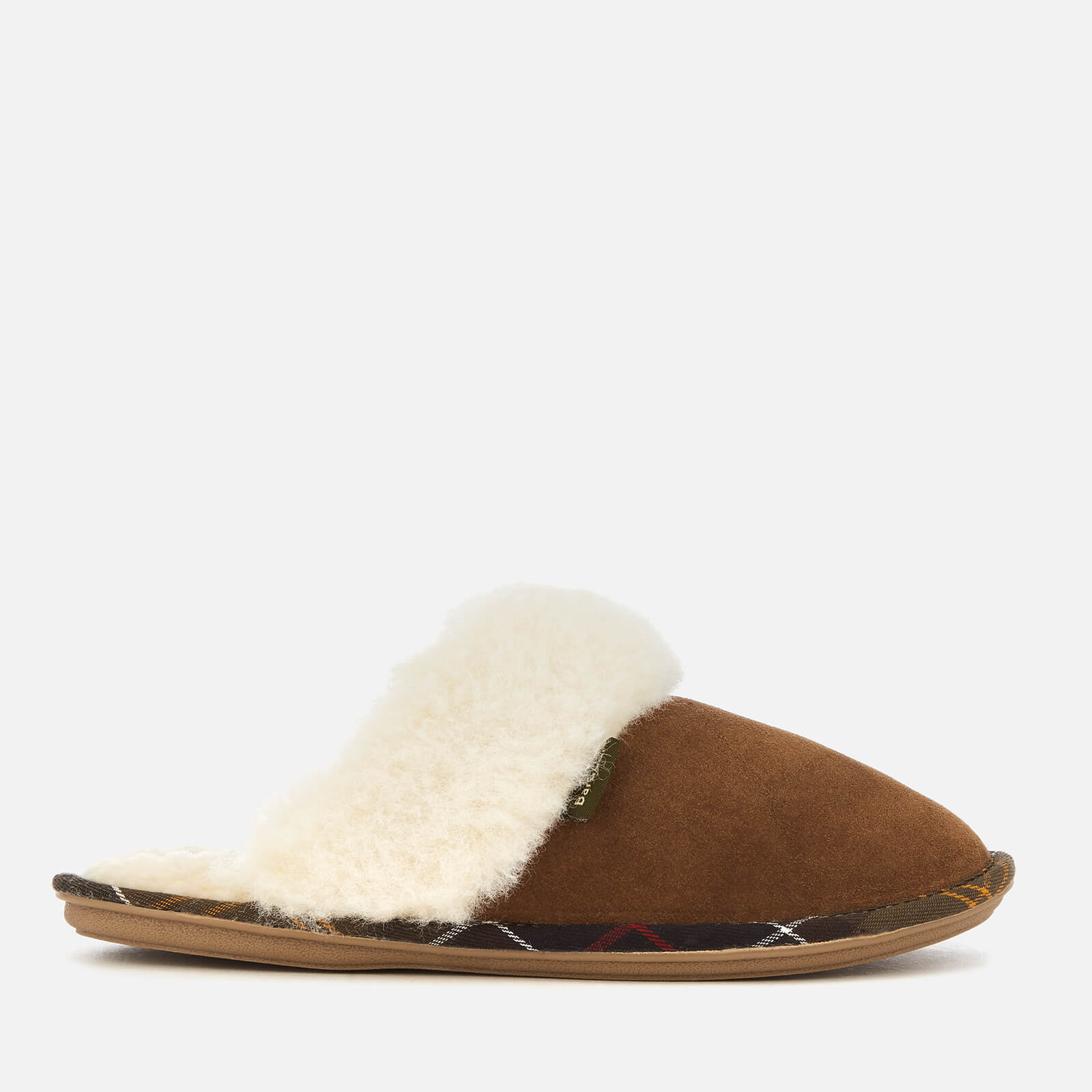 Barbour Womens Lydia Suede Mule Slippers Camel Uk 3 Tan