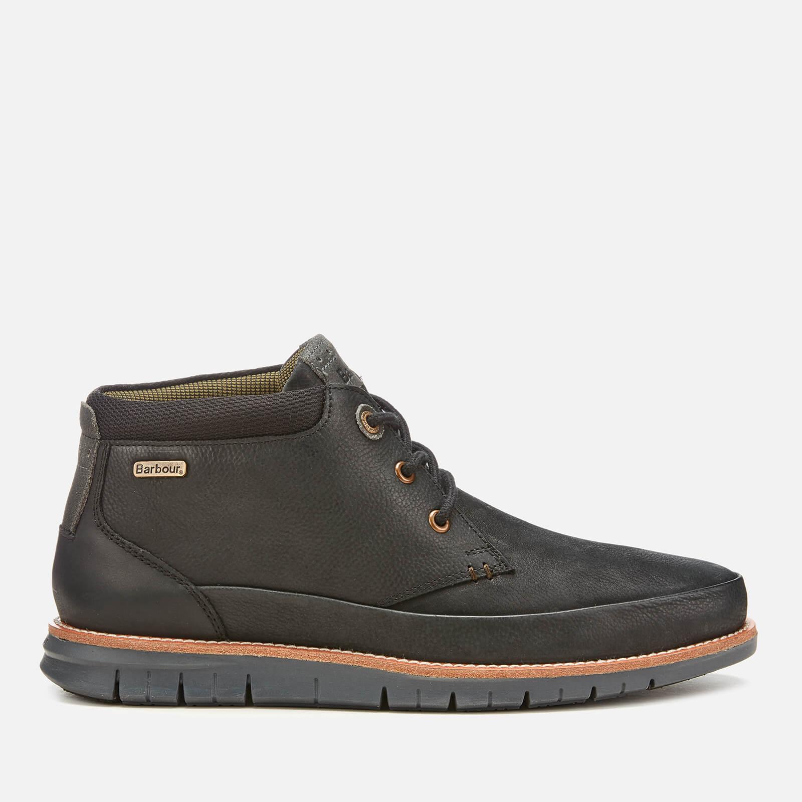 Barbour Mens Nelson Nubuck 3 Eye Chukka Boots Black Uk 7