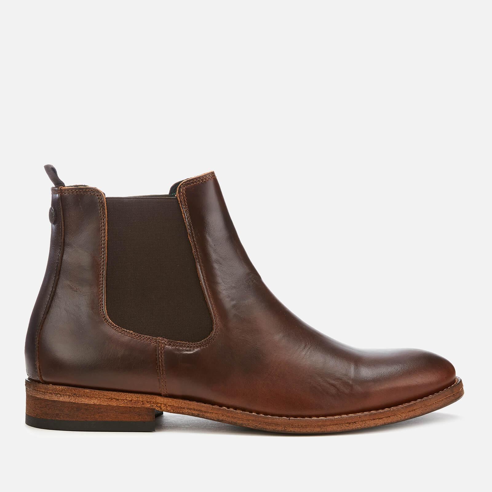 Barbour Mens Bedlington Leather Chelsea Boots Mahogany Uk 8 Tan