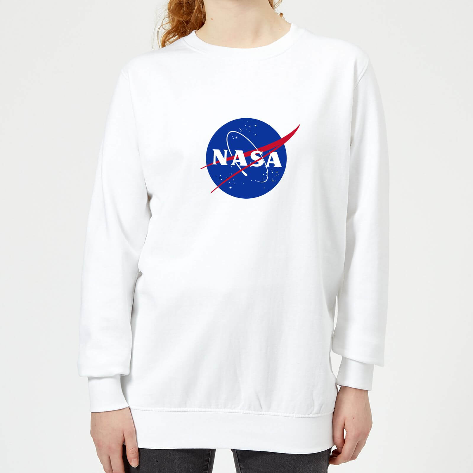 NASA Logo Insignia Damen Sweatshirt - Weiß - XS - Weiß
