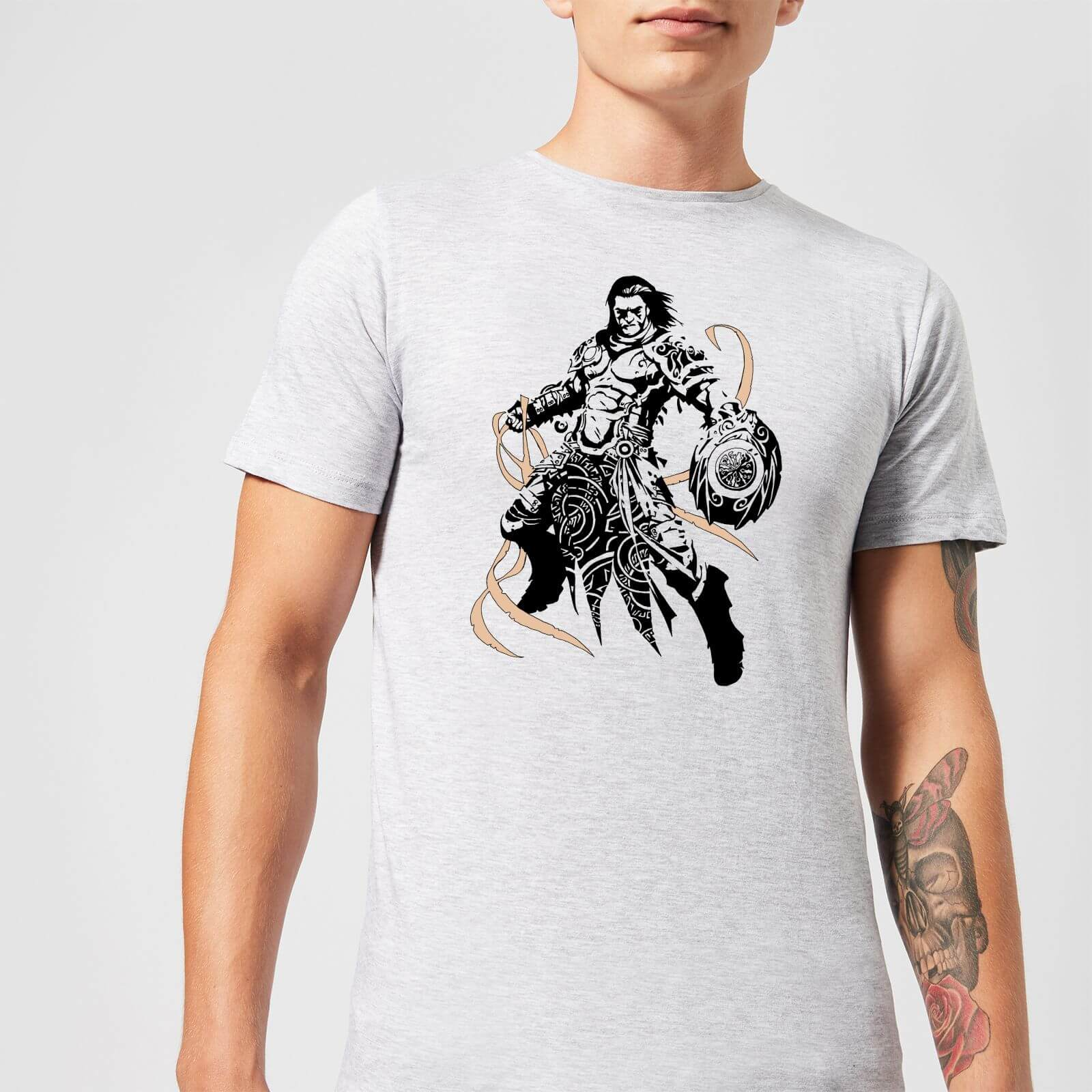 Magic The Gathering Gideon Character Art T-Shirt - Grau - 3XL - Grau