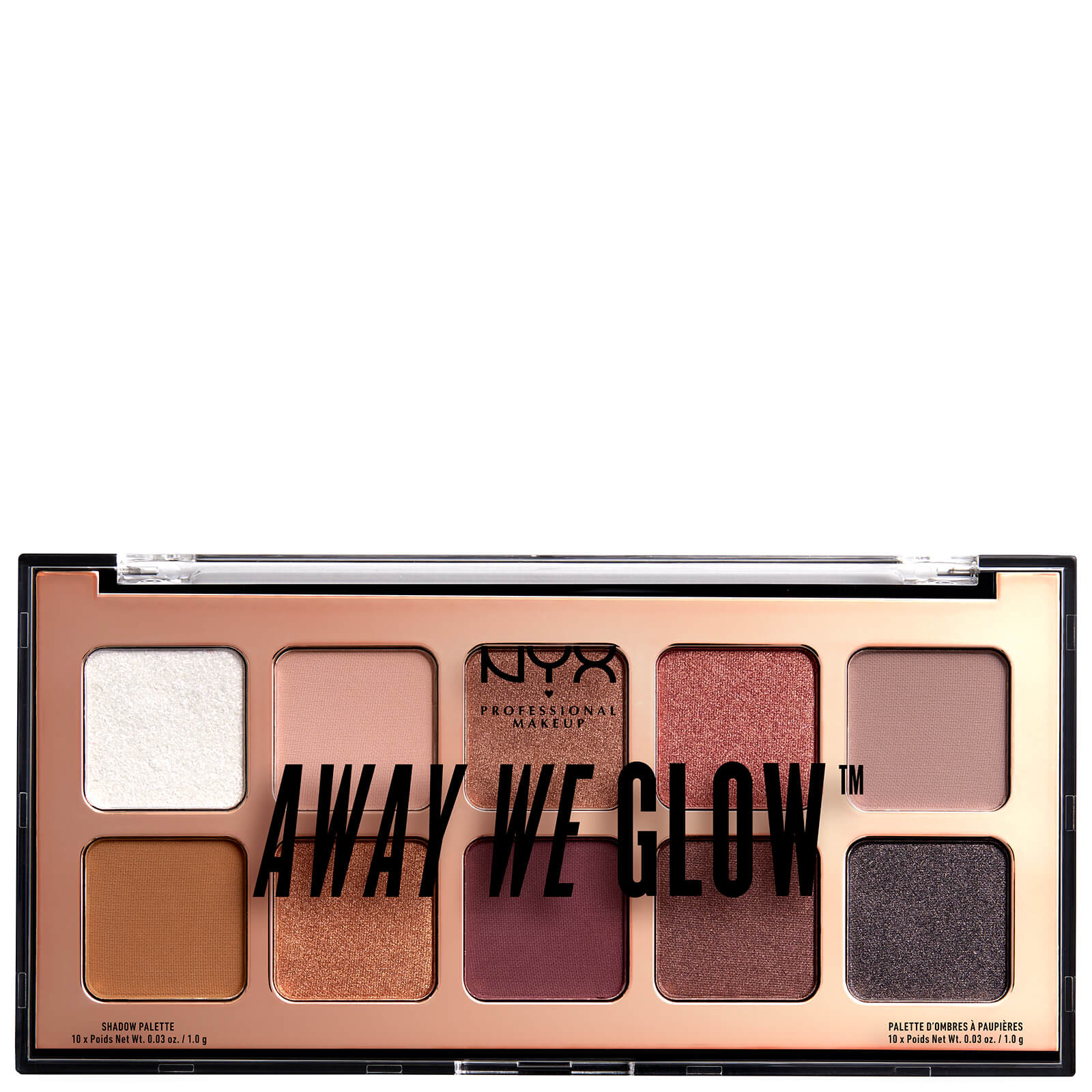 Купить Тени для век NYX Professional Makeup Away We Glow Shadow Palette 10 г - Lovebeam