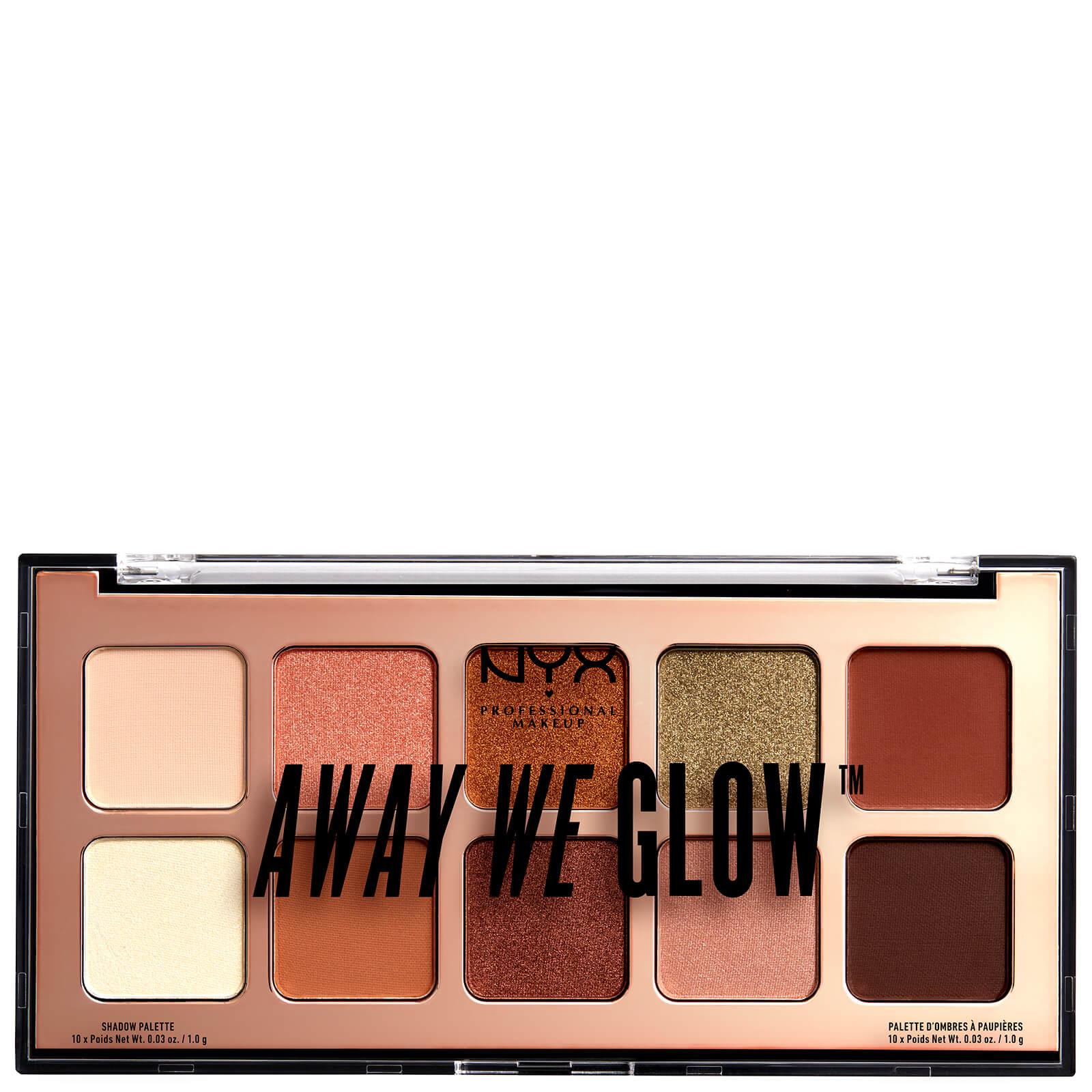 Купить Тени для век NYX Professional Makeup Away We Glow Shadow Palette 10 г - Hooked On Glow
