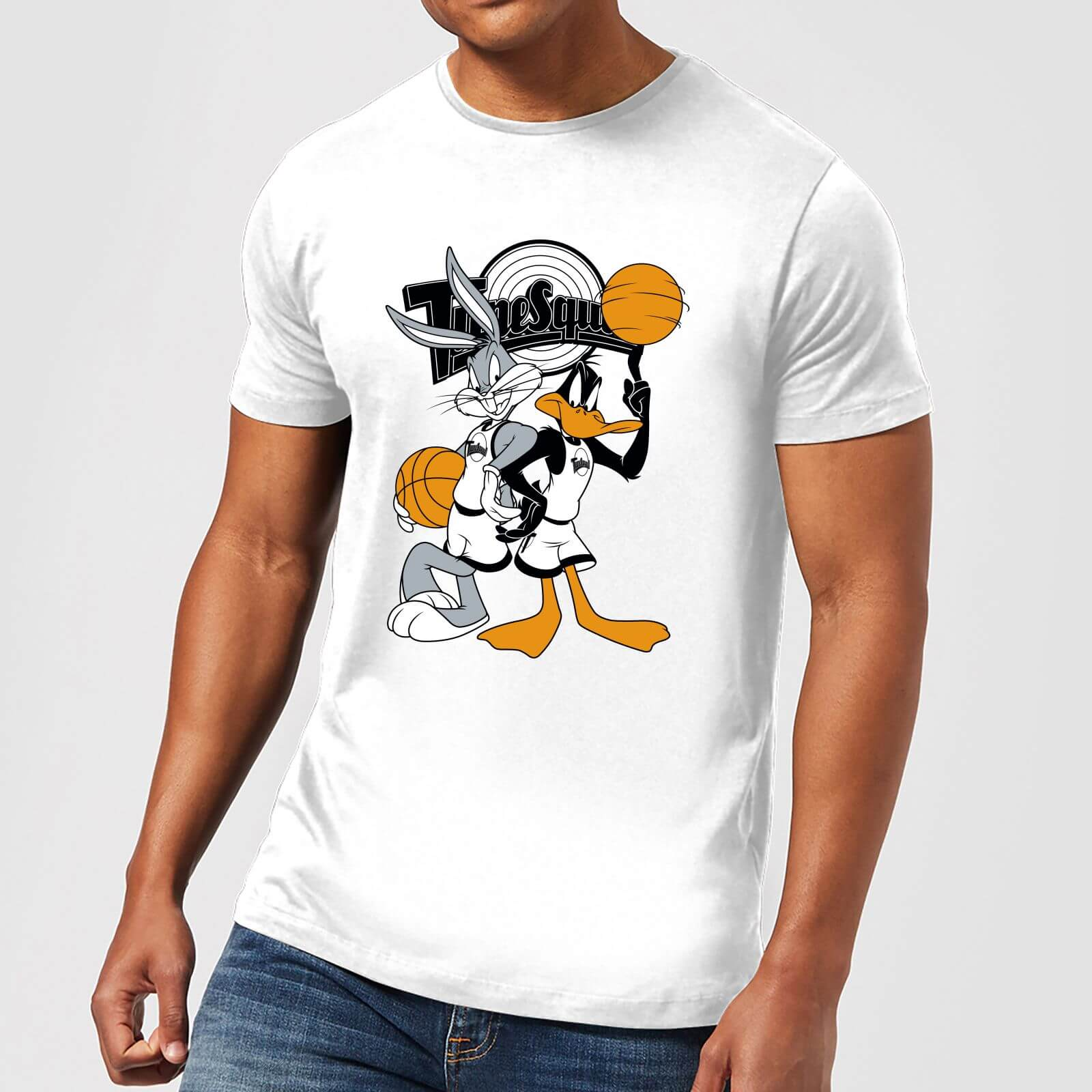 Space Jam Bugs And Daffy Tune Squad Men's T-Shirt - White - M - Bianco