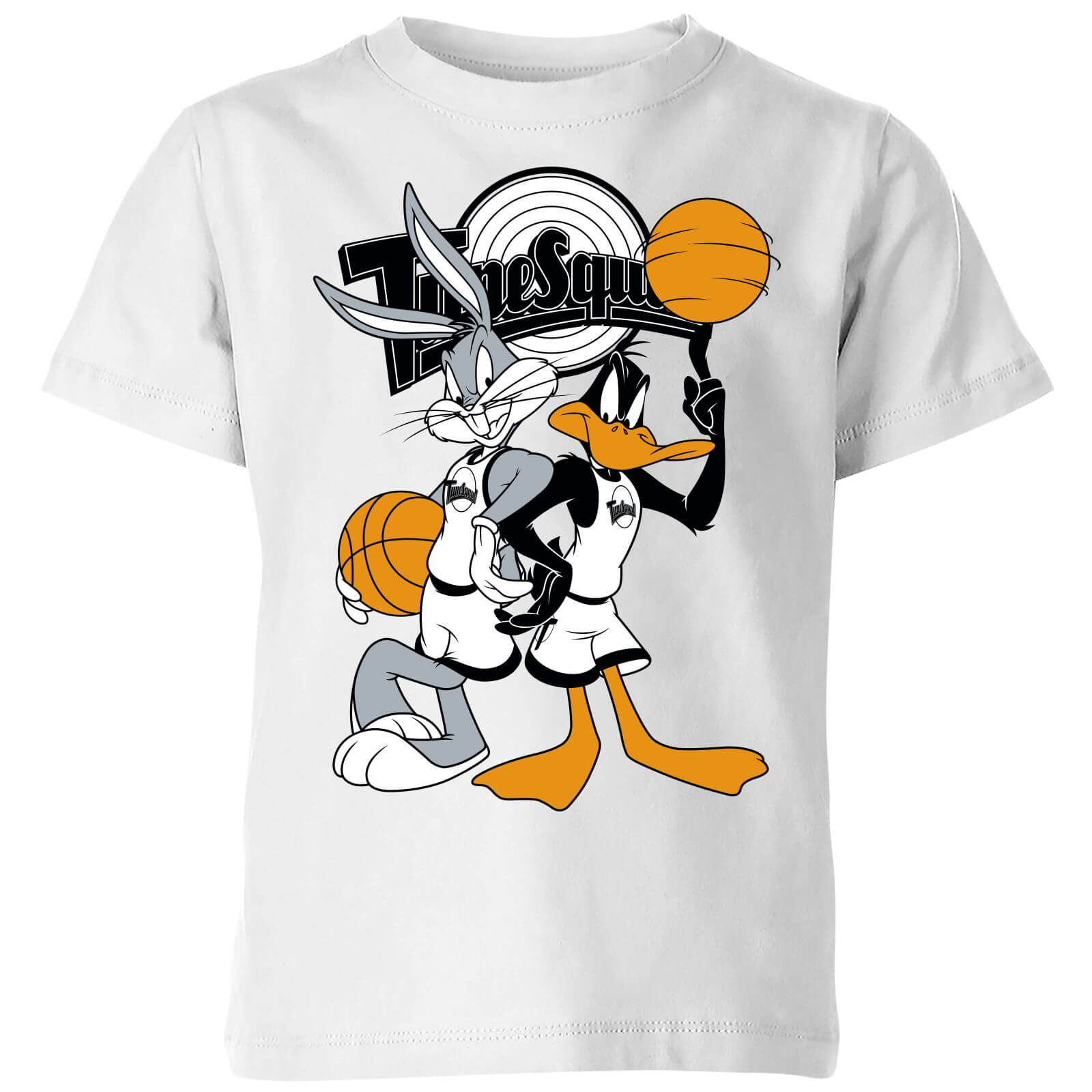 Space Jam Bugs And Daffy Tune Squad Kids T Shirt   White   9 10 Years   White