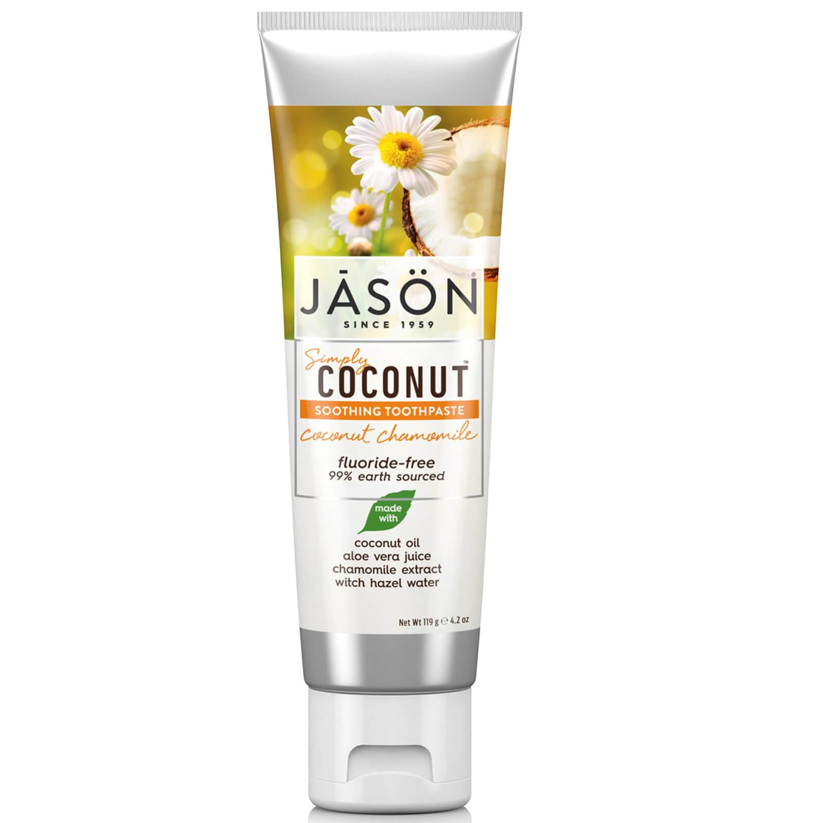 Купить Успокаивающая зубная паста «Кокос и ромашка» JASON Soothing Coconut Chamomile Toothpaste 119 г