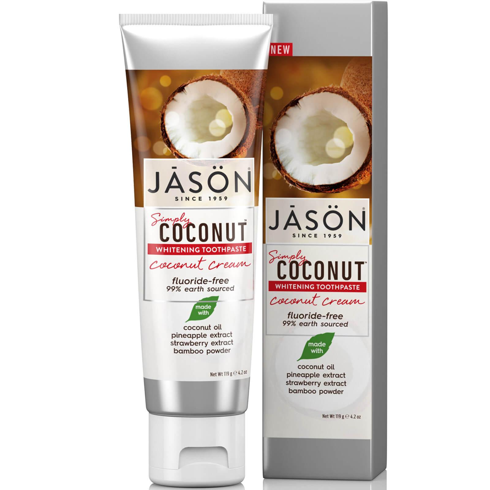 Купить Отбеливающая зубная паста «Кокос» JASON Whitening Coconut Cream Toothpaste 119 г