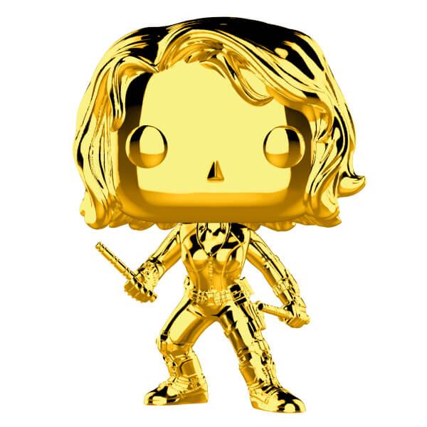Marvel Studios 10th Anniversary Black Widow Gold Chrome Funko Pop! Figuur