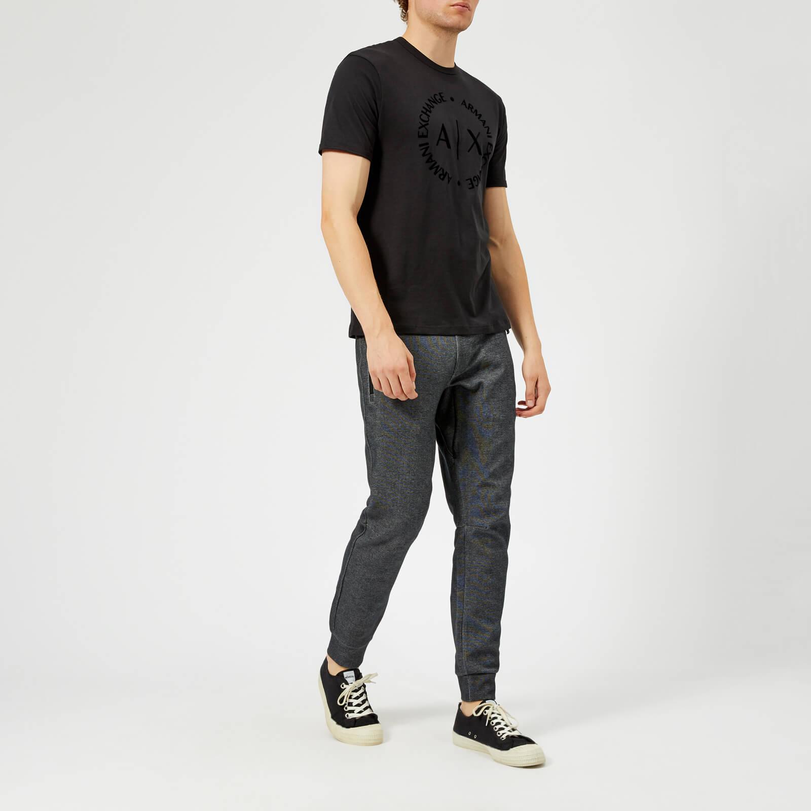 Armani Exchange Men's Tonal Logo T-Shirt - Black - L