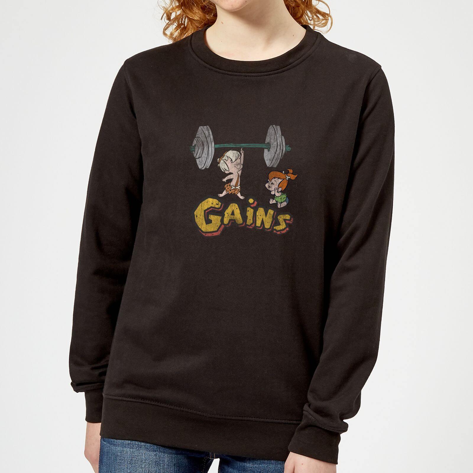 The Flintstones Distressed Bam Bam Gains Women's Sweatshirt - Black - XS - Nero
